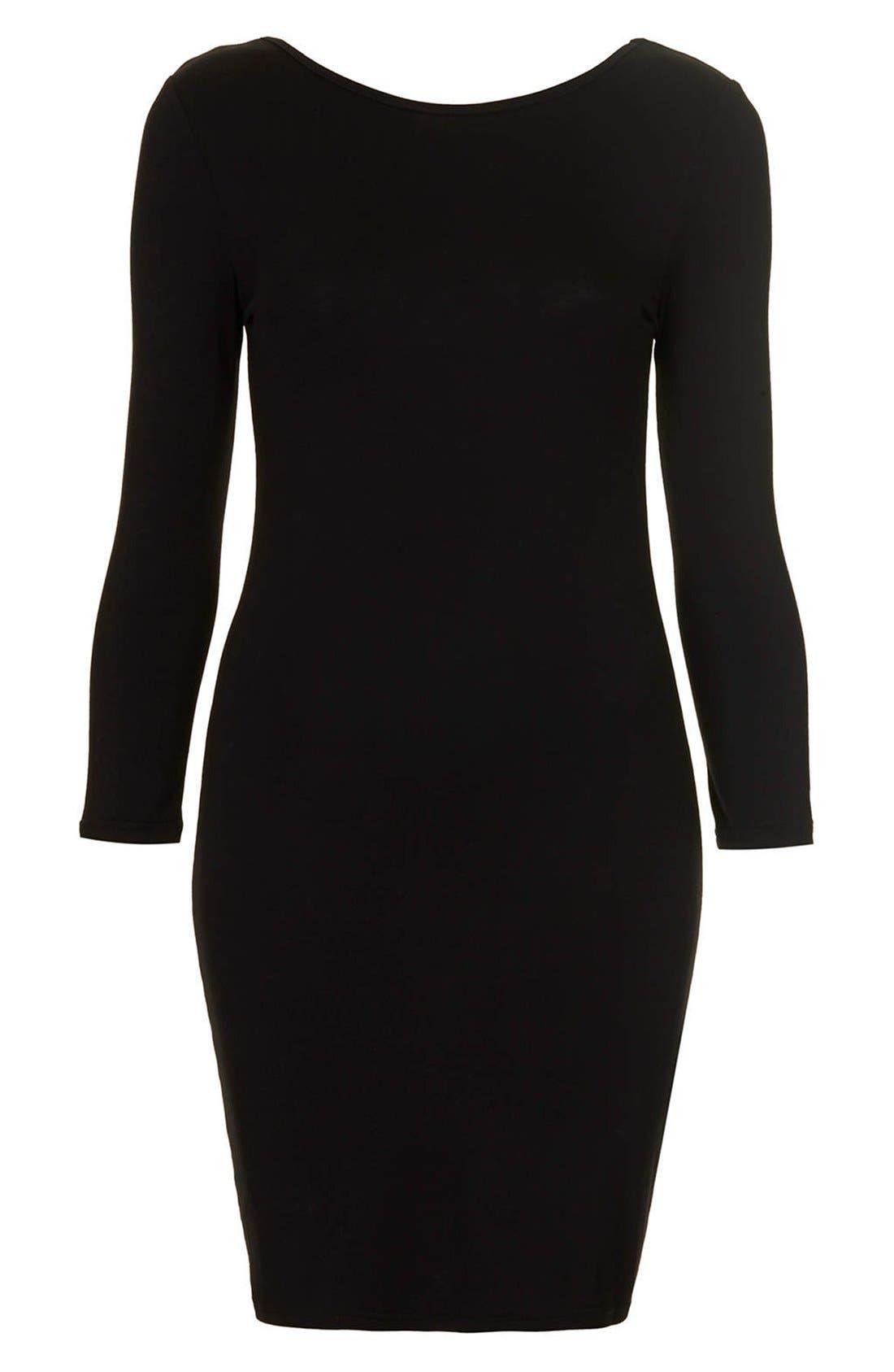 Alternate Image 3  - Topshop Scoop Back Jersey Body-Con Dress