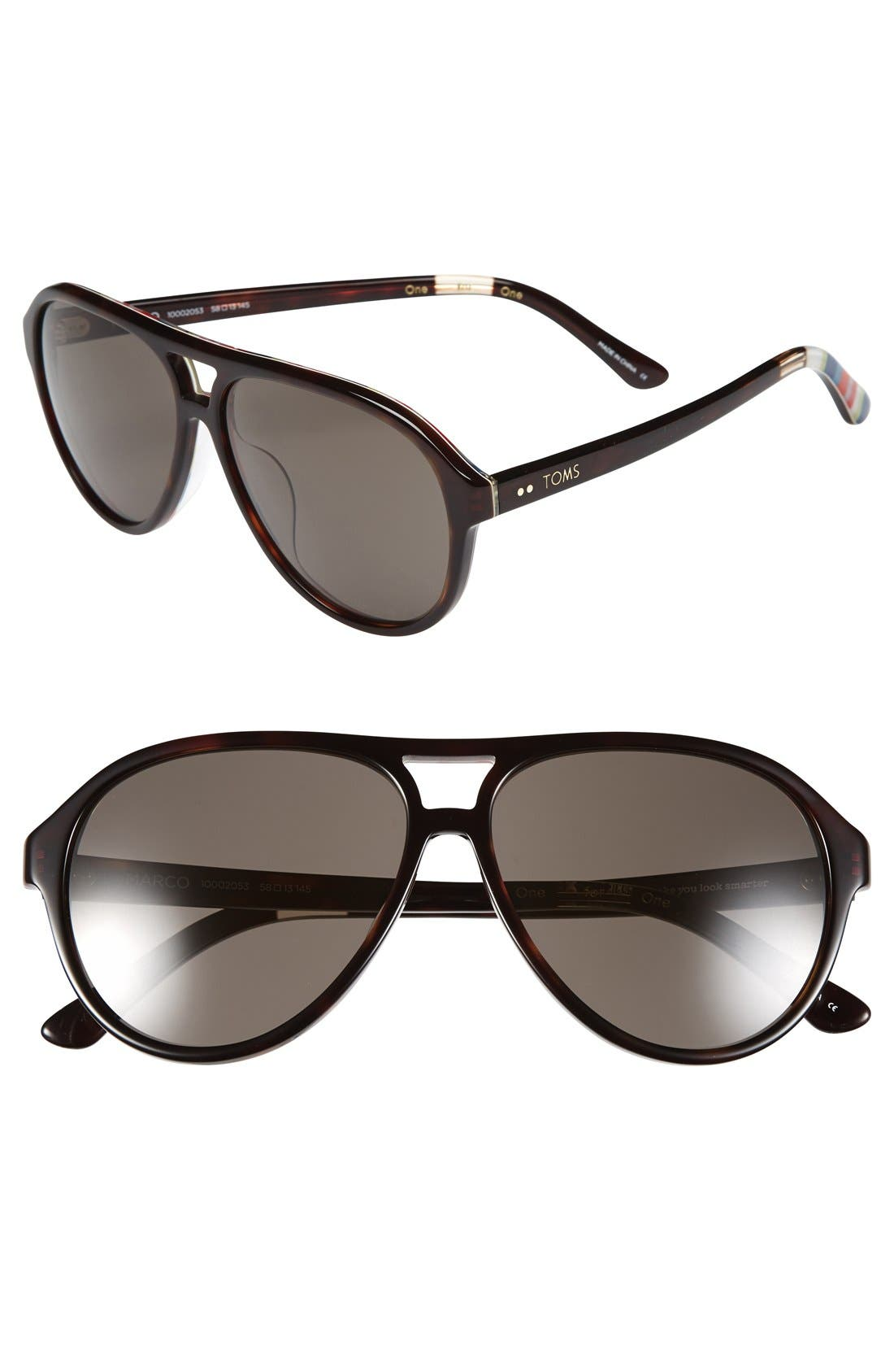 Alternate Image 1 Selected - TOMS 'Marco' 58mm Sunglasses