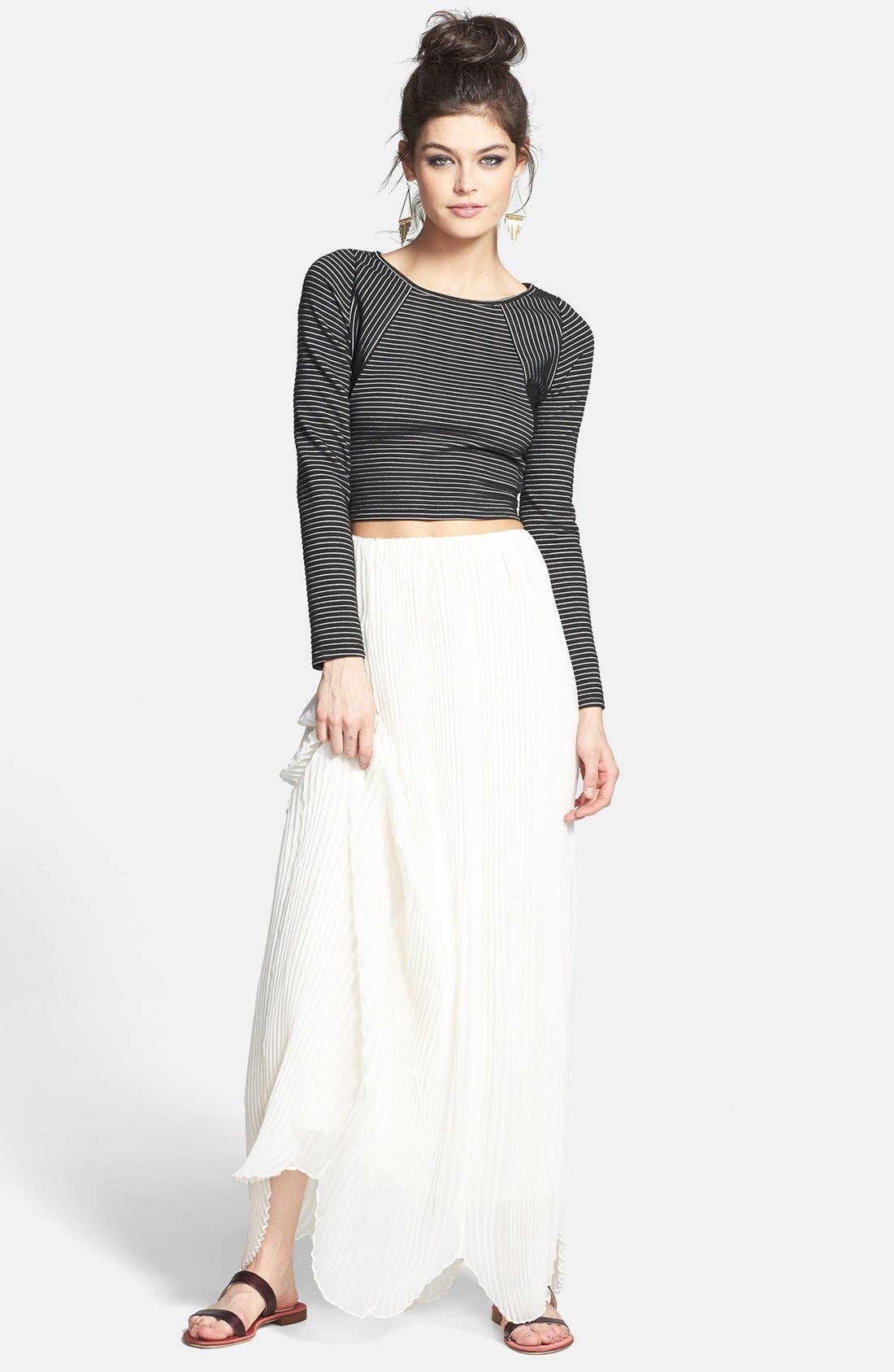 Alternate Image 4  - Rules of Etiquette 'Olivia' Pleated Maxi Skirt