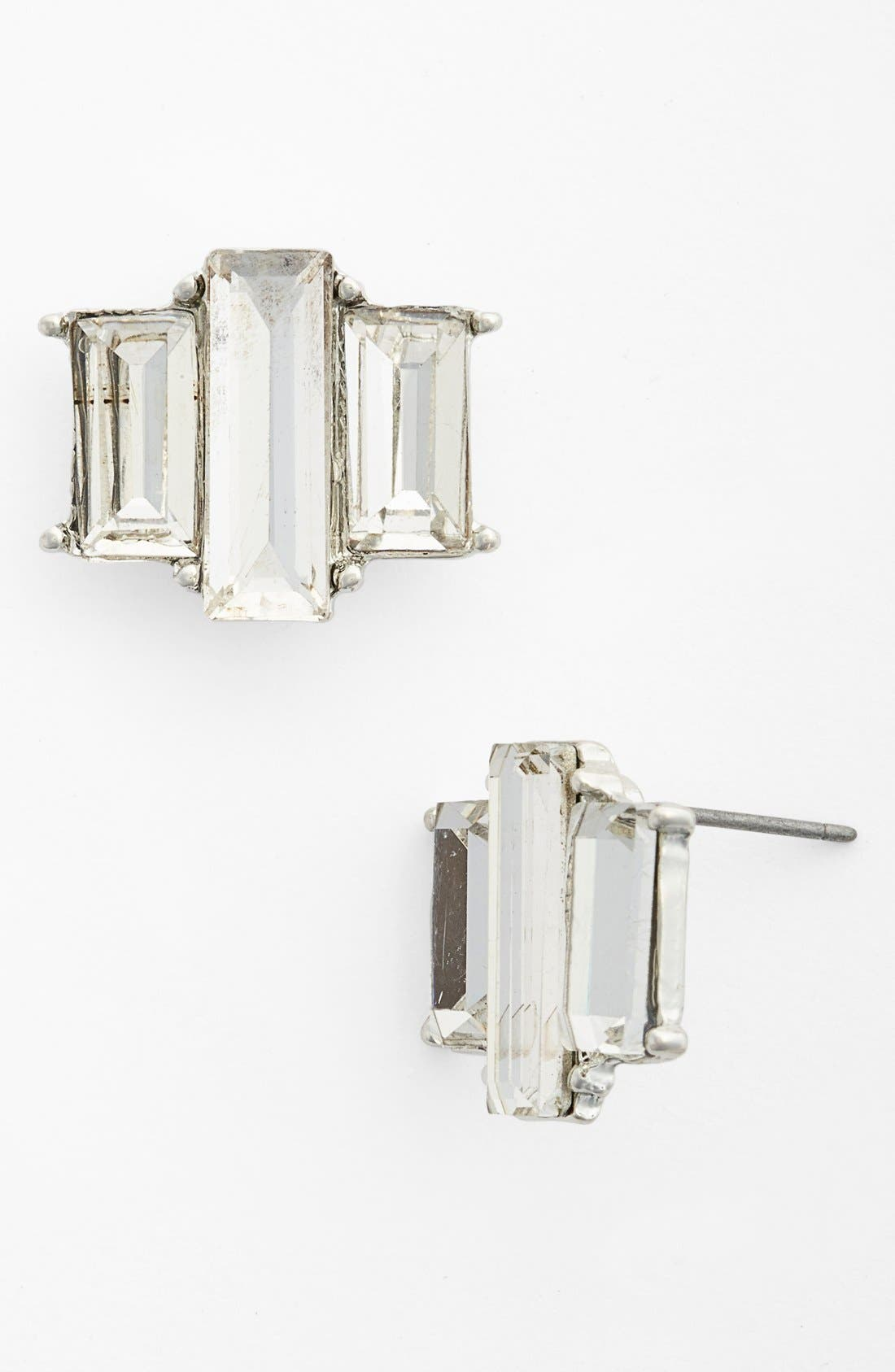 Alternate Image 1 Selected - Natasha Couture Faceted Stud Earrings