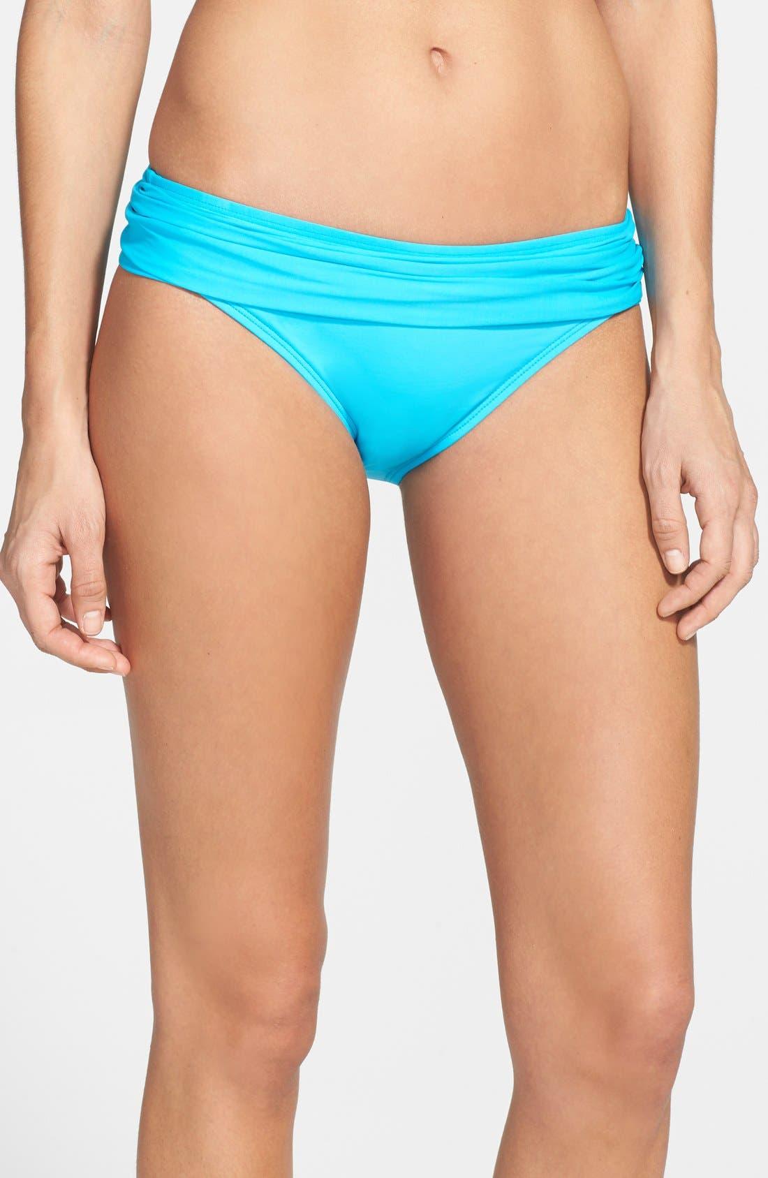 Main Image - La Blanca 'Island' Shirred Hipster Bikini Bottoms