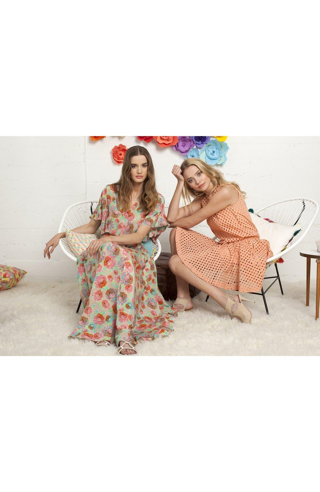 Alternate Image 4  - Ella Moss 'Delilah' Floral Silk Maxi Dress