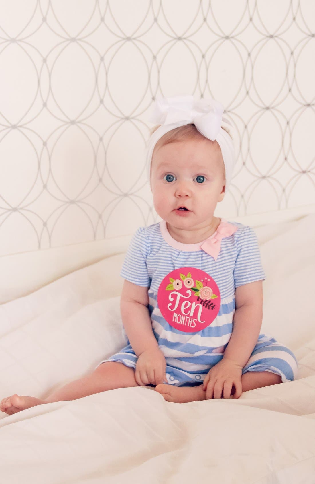 Alternate Image 2  - Lucy Darling Bodysuit & Stickers (Baby Girls)