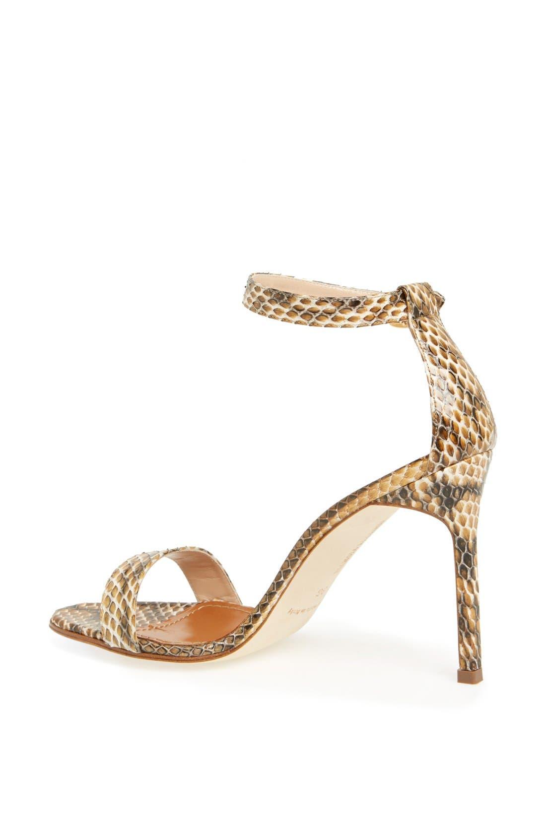 Alternate Image 2  - Manolo Blahnik 'Chaos' Cuff Genuine Snakeskin Sandal