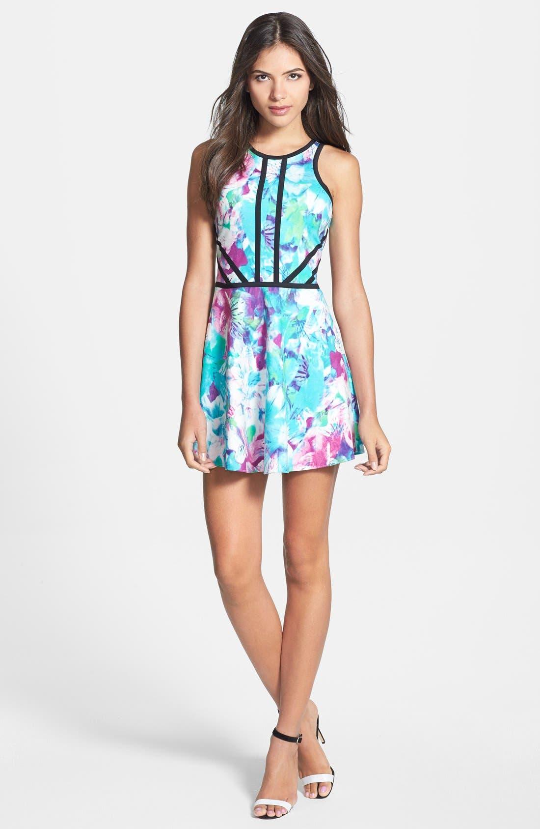 Alternate Image 1 Selected - Parker 'Shelby' Print Cotton Blend Fit & Flare Dress