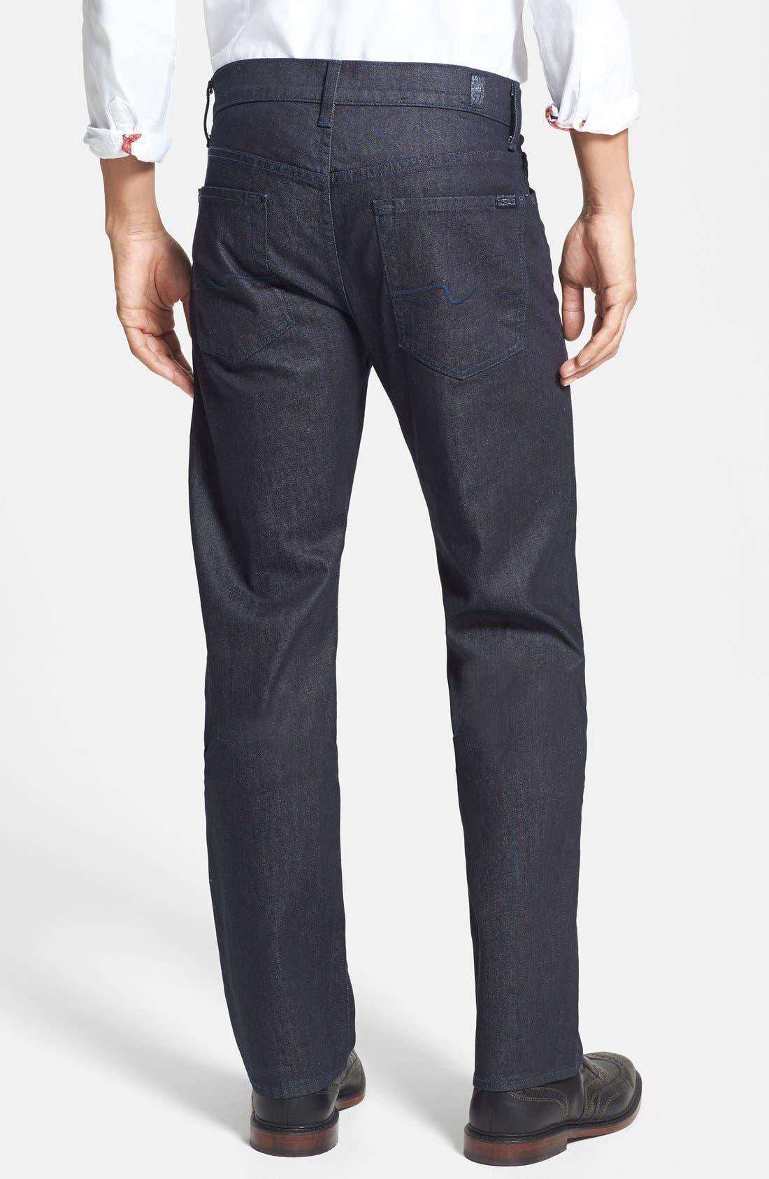 Alternate Image 2  - 7 For All Mankind® 'Standard' Straight Leg Jeans (Deep Indigo)