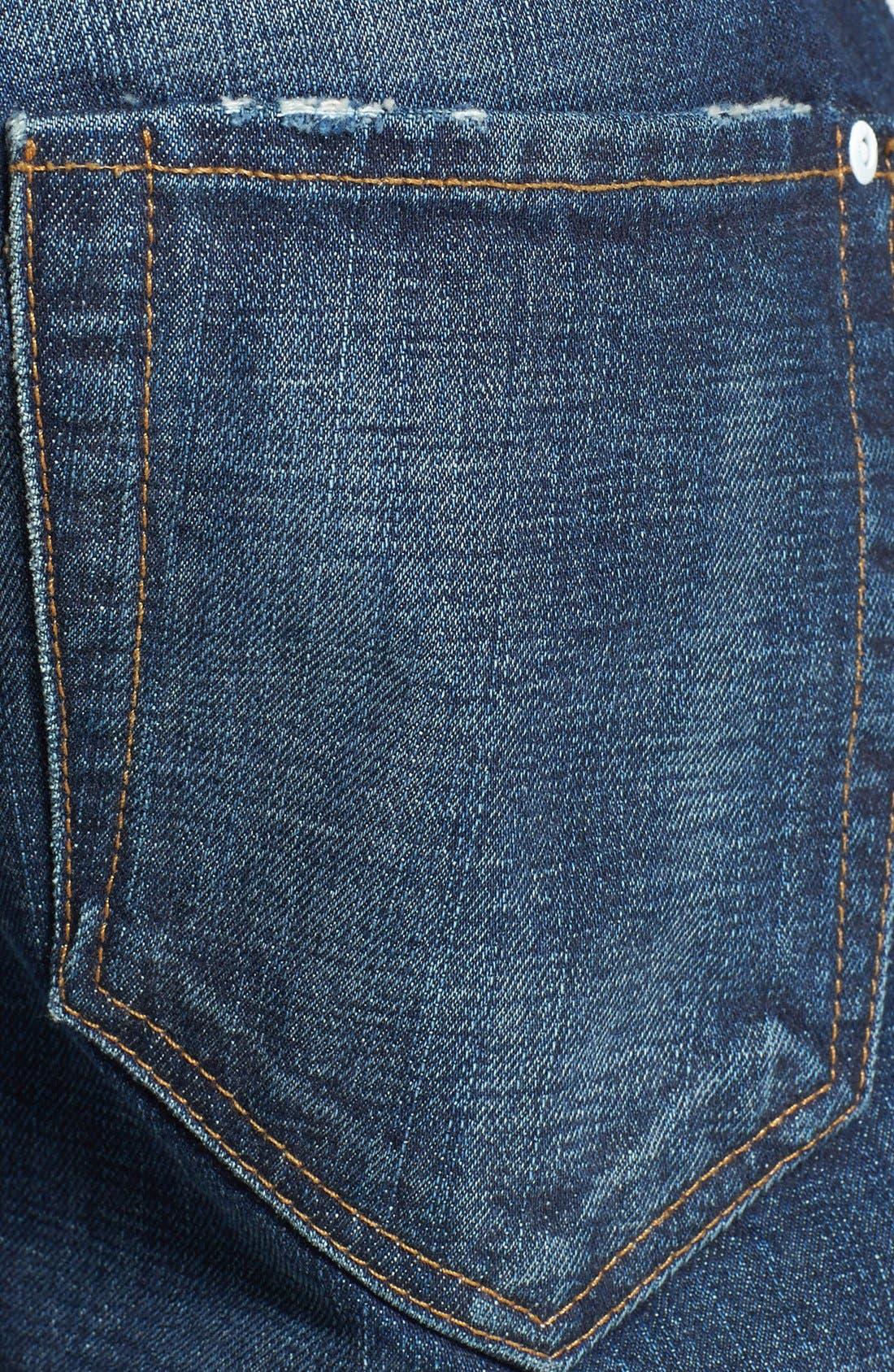 Alternate Image 4  - Baldwin 'Reed' Straight Leg Selvedge Jeans (Classic No. 5)