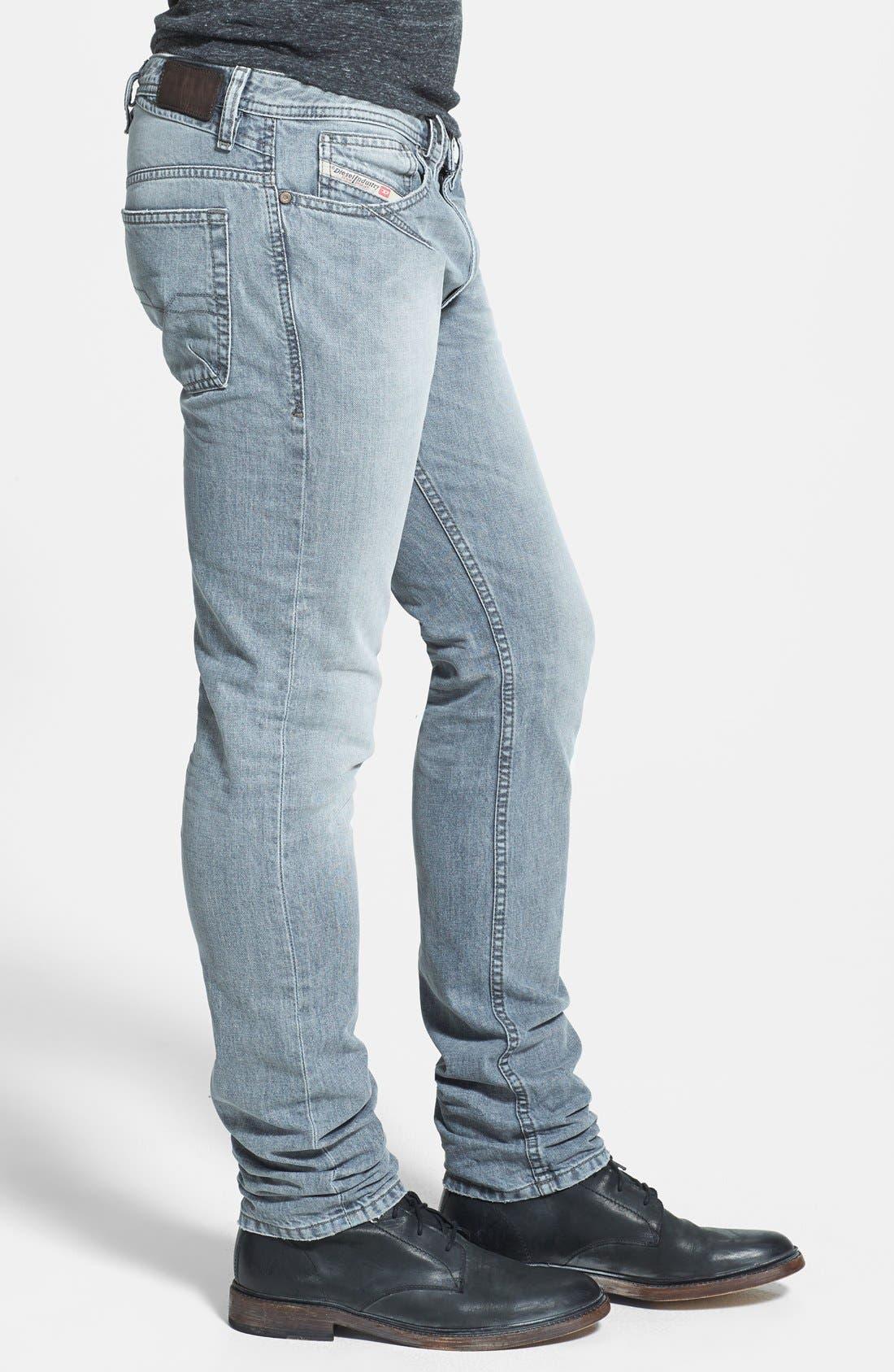 Alternate Image 3  - DIESEL® 'Shioner' Skinny Fit Jeans (Black)