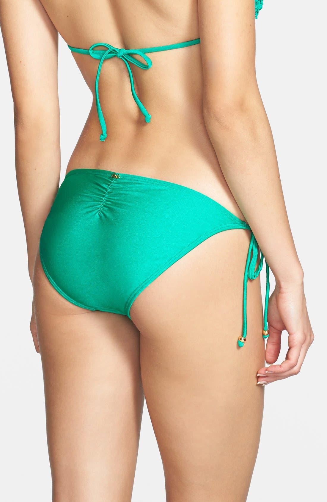 Alternate Image 2  - PilyQ 'Green Jade' Side Tie Bikini Bottoms