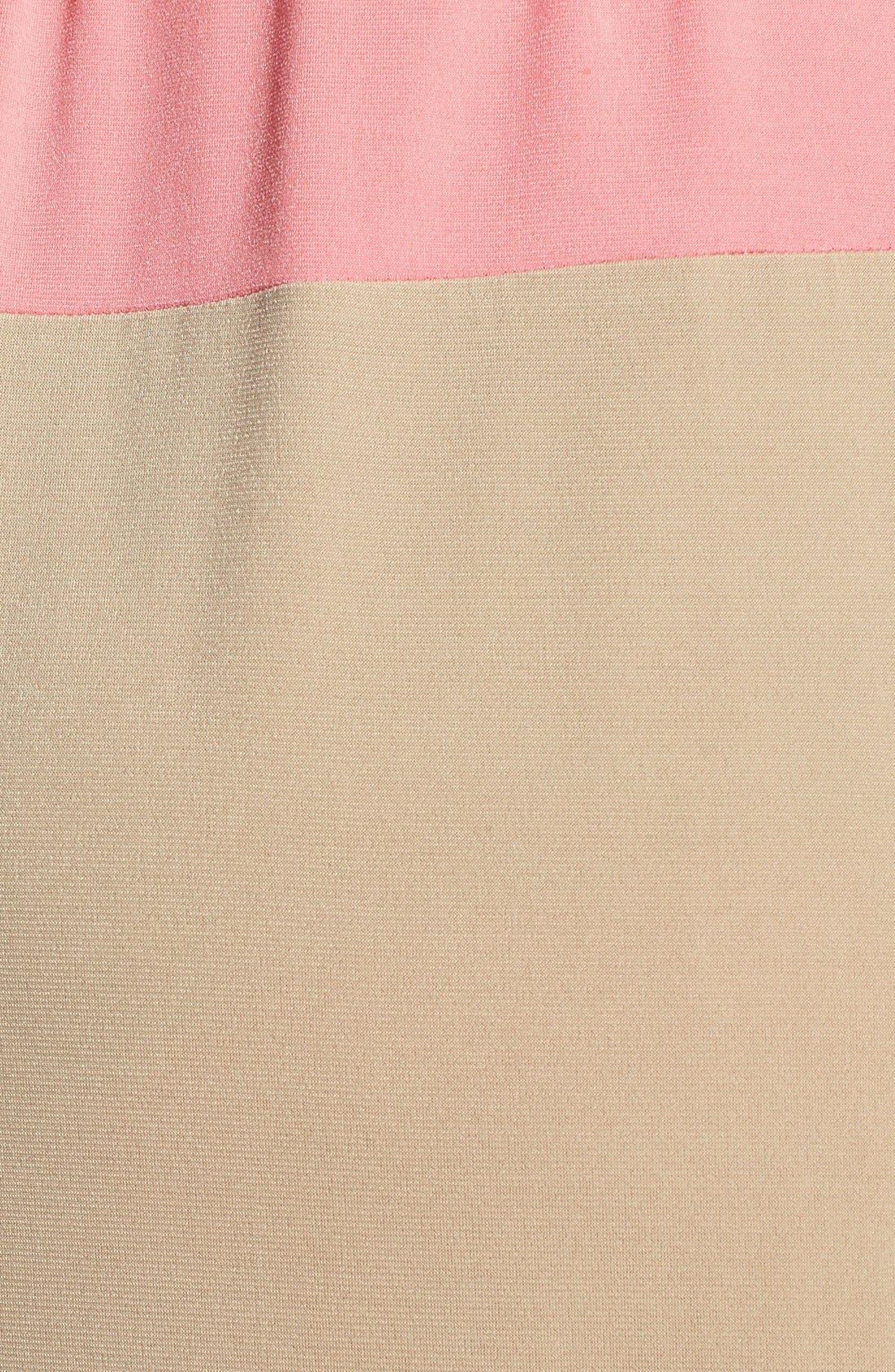 Alternate Image 3  - London Times Colorblock Print Matte Jersey Maxi Dress (Plus Size)