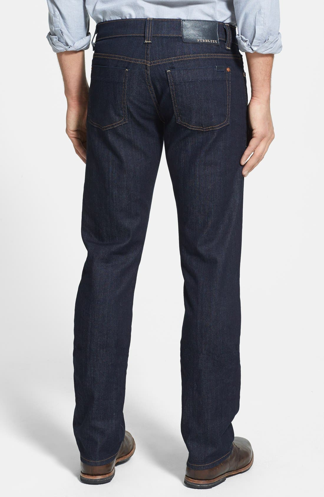 Alternate Image 2  - Fidelity Denim 'Impala' Straight Leg Jeans (Town Rinse)