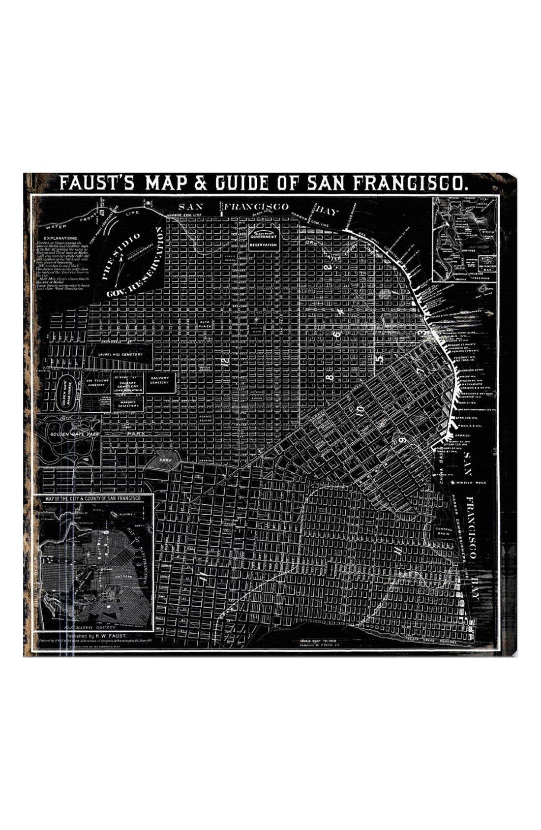 Main Image - Oliver Gal 'Faust's Map of San Francisco - 1882' Wall Art