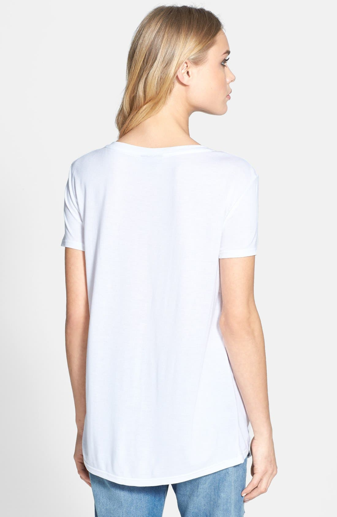 Alternate Image 2  - Topshop V-Neck Tee