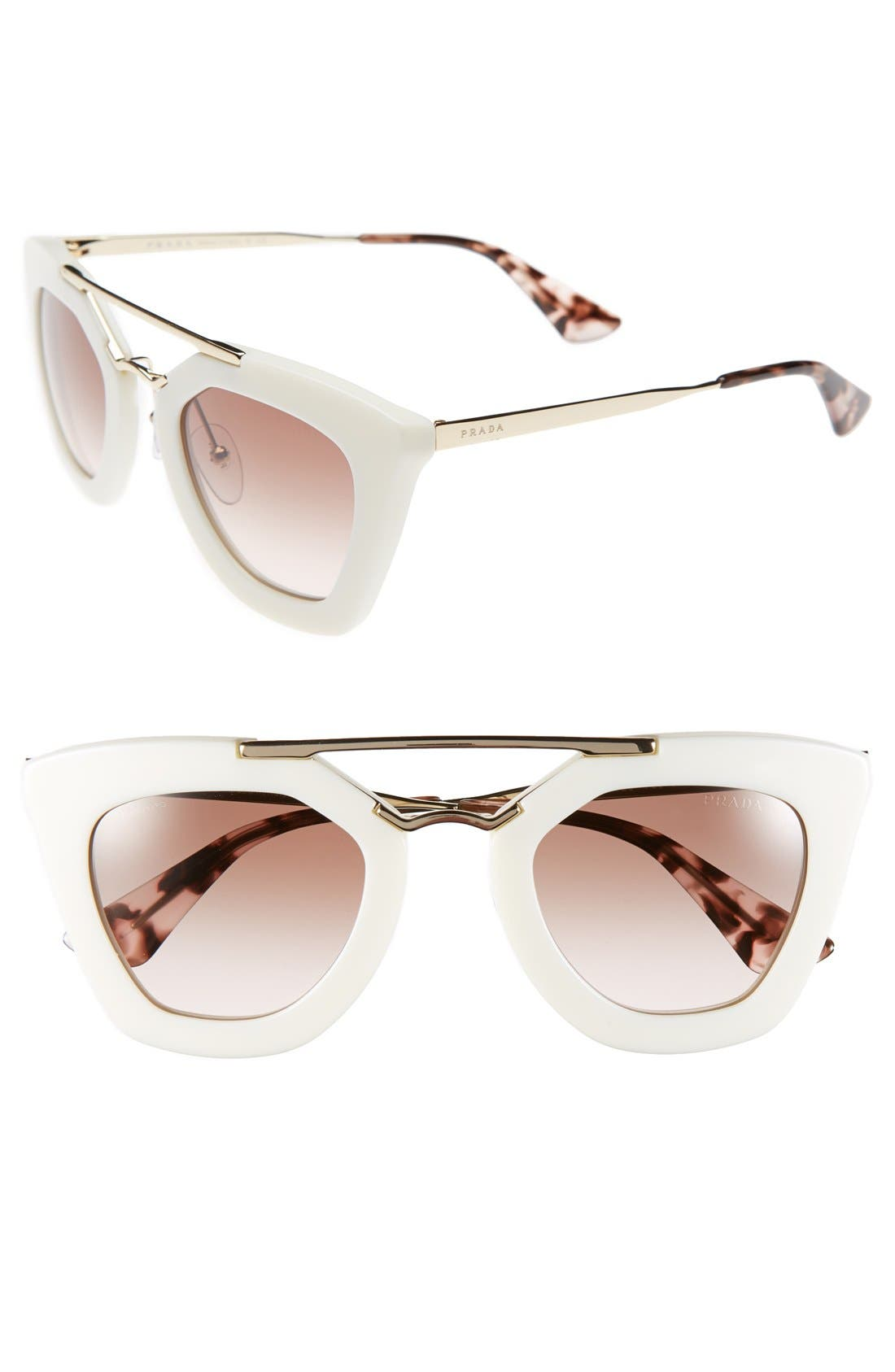Alternate Image 1 Selected - Prada 49mm Retro Sunglasses