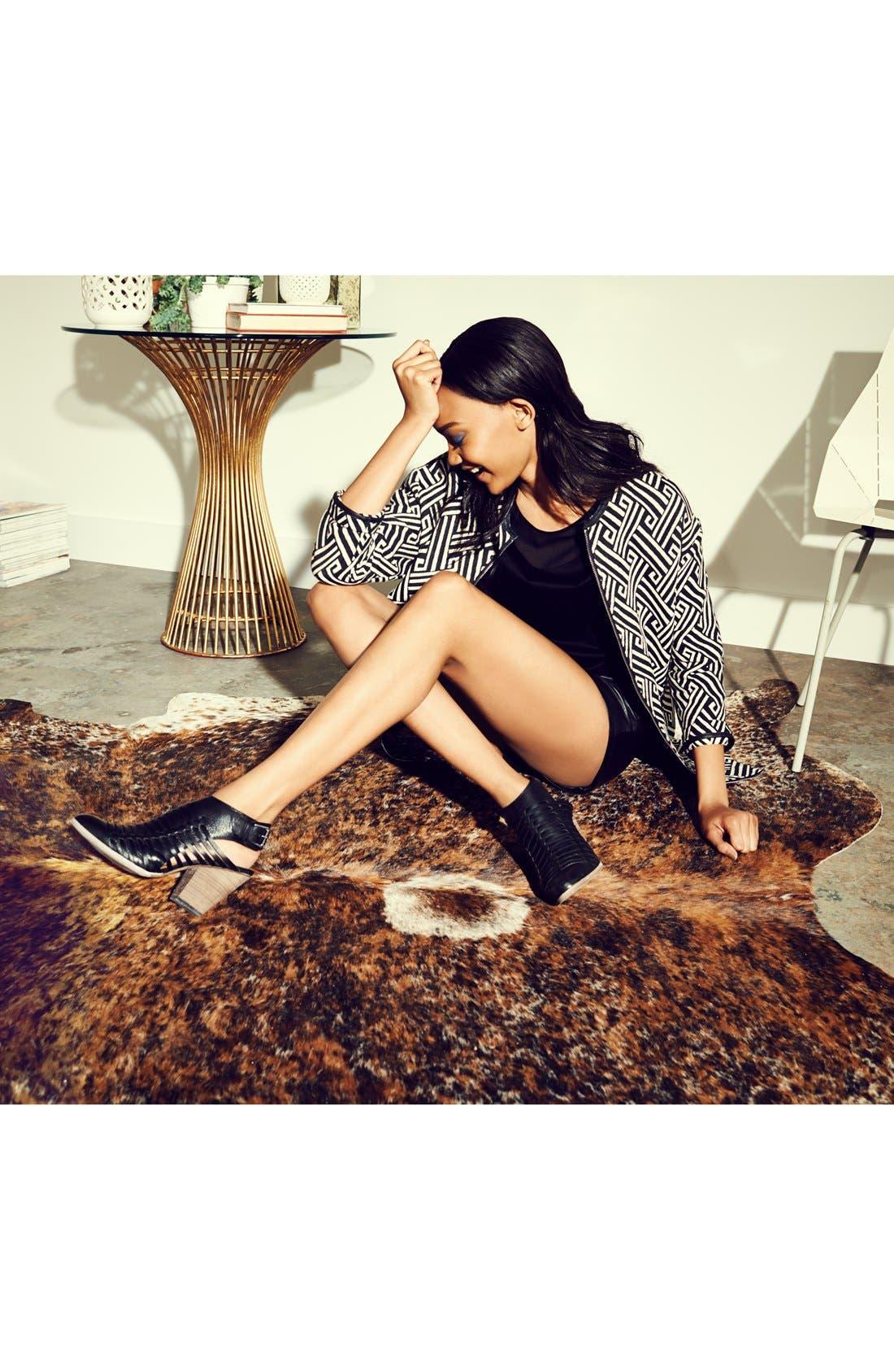 Main Image - Maison Scotch Car Coat, Halogen® Leather Shorts & Dolce Vita 'Harolyn' Bootie