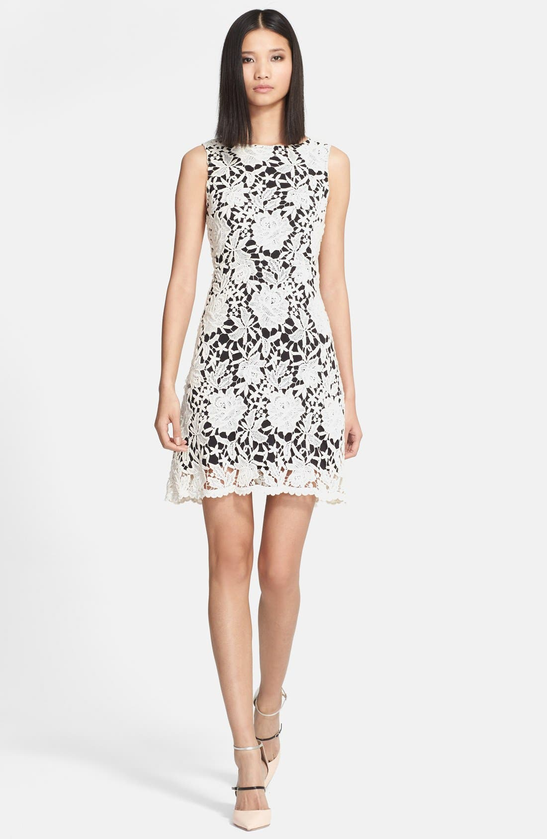 Alternate Image 1 Selected - Alice + Olivia 'Jolie' Cotton Lace Dress