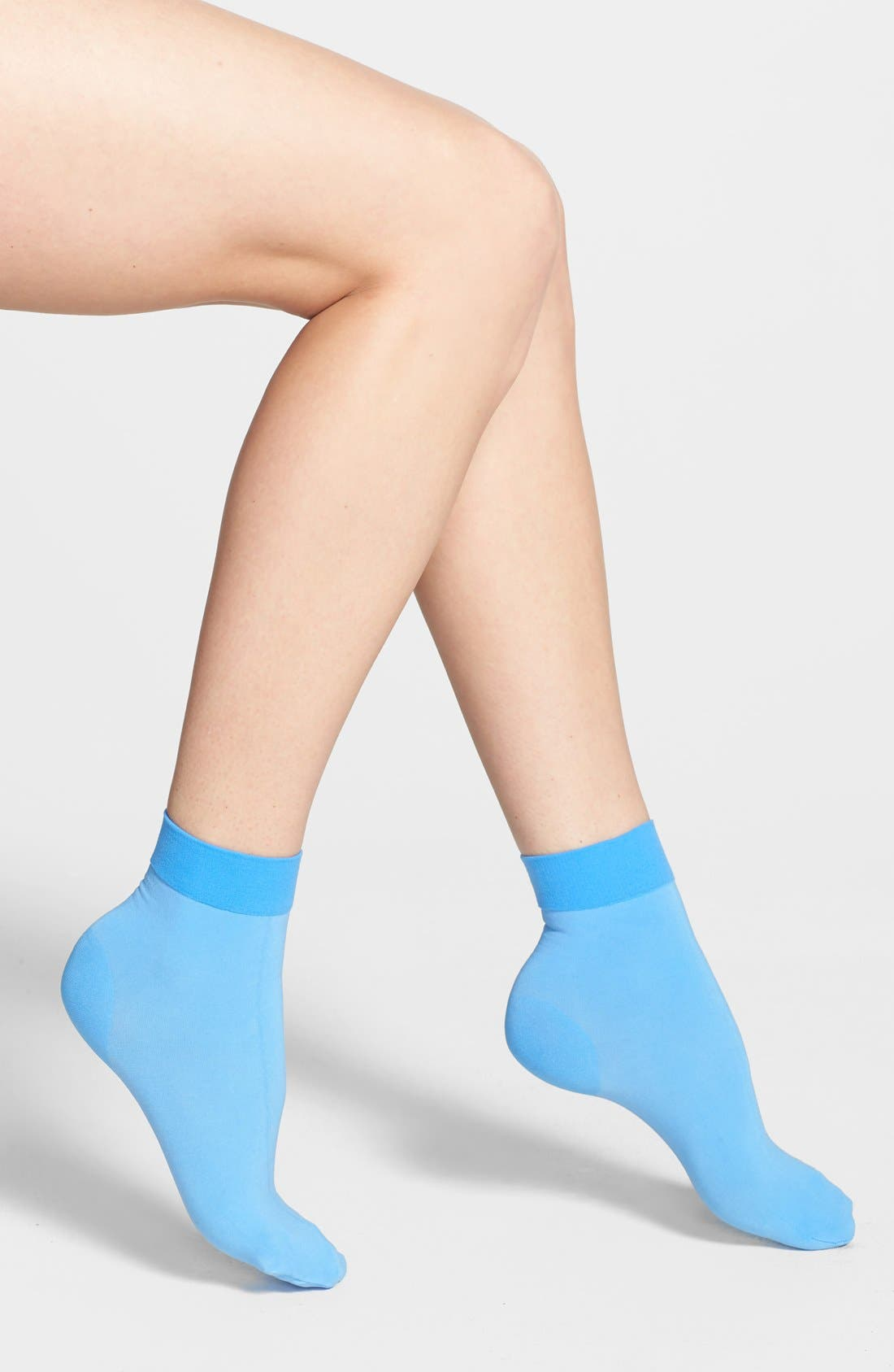 Alternate Image 1 Selected - DKNY Opaque Ankle Socks