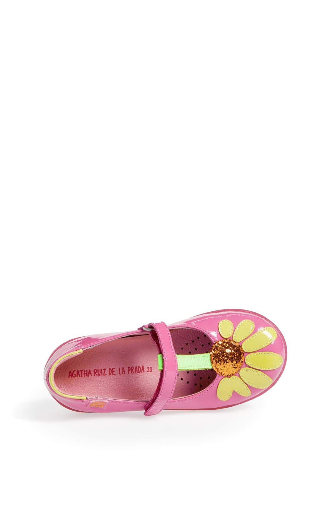 Alternate Image 3  - Agatha Ruiz de la Prada 'Glitter Flower' Mary Jane (Toddler & Little Kid)