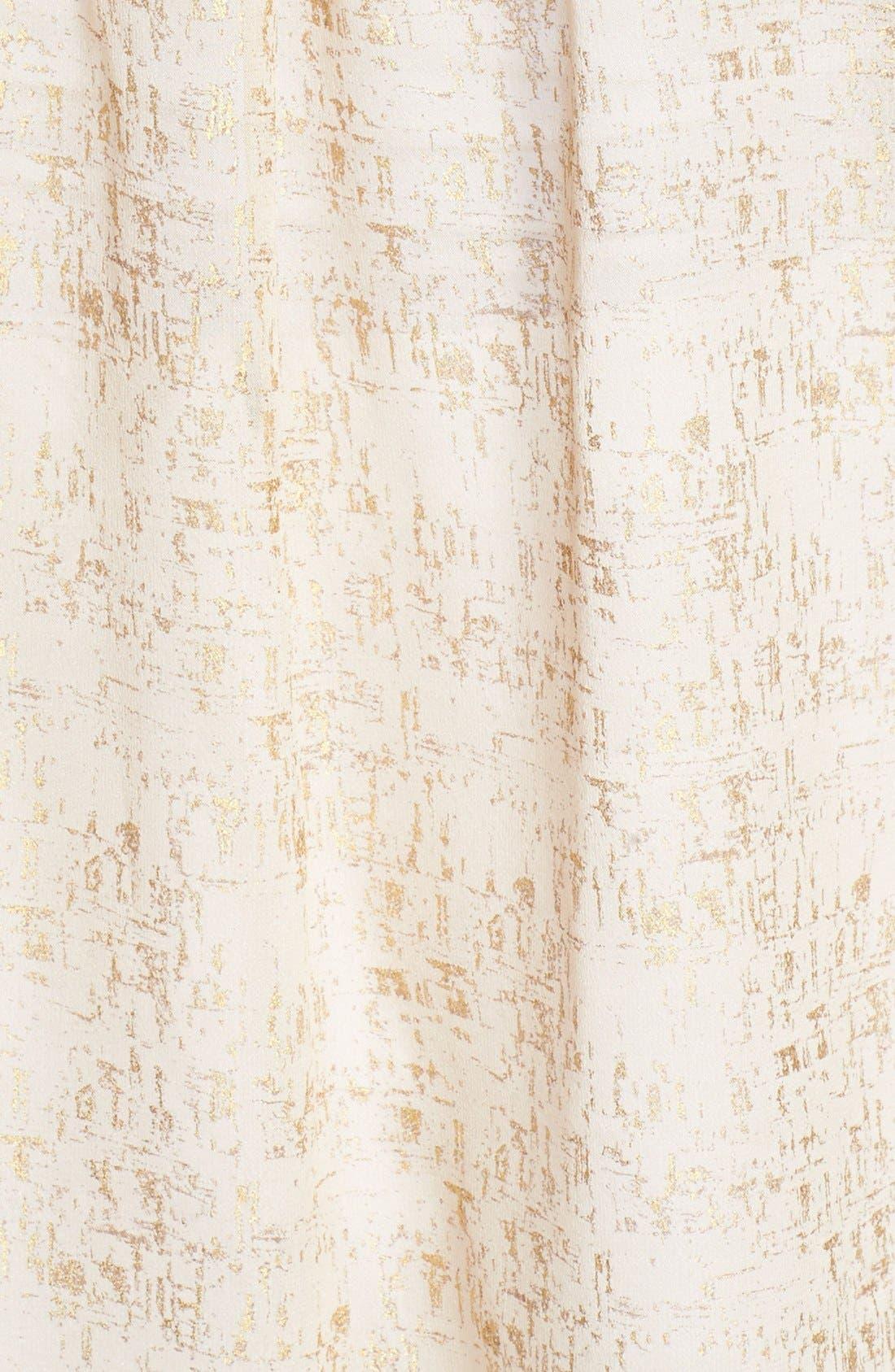 Alternate Image 3  - Diane von Furstenberg 'Danielle' Metallic Silk Top