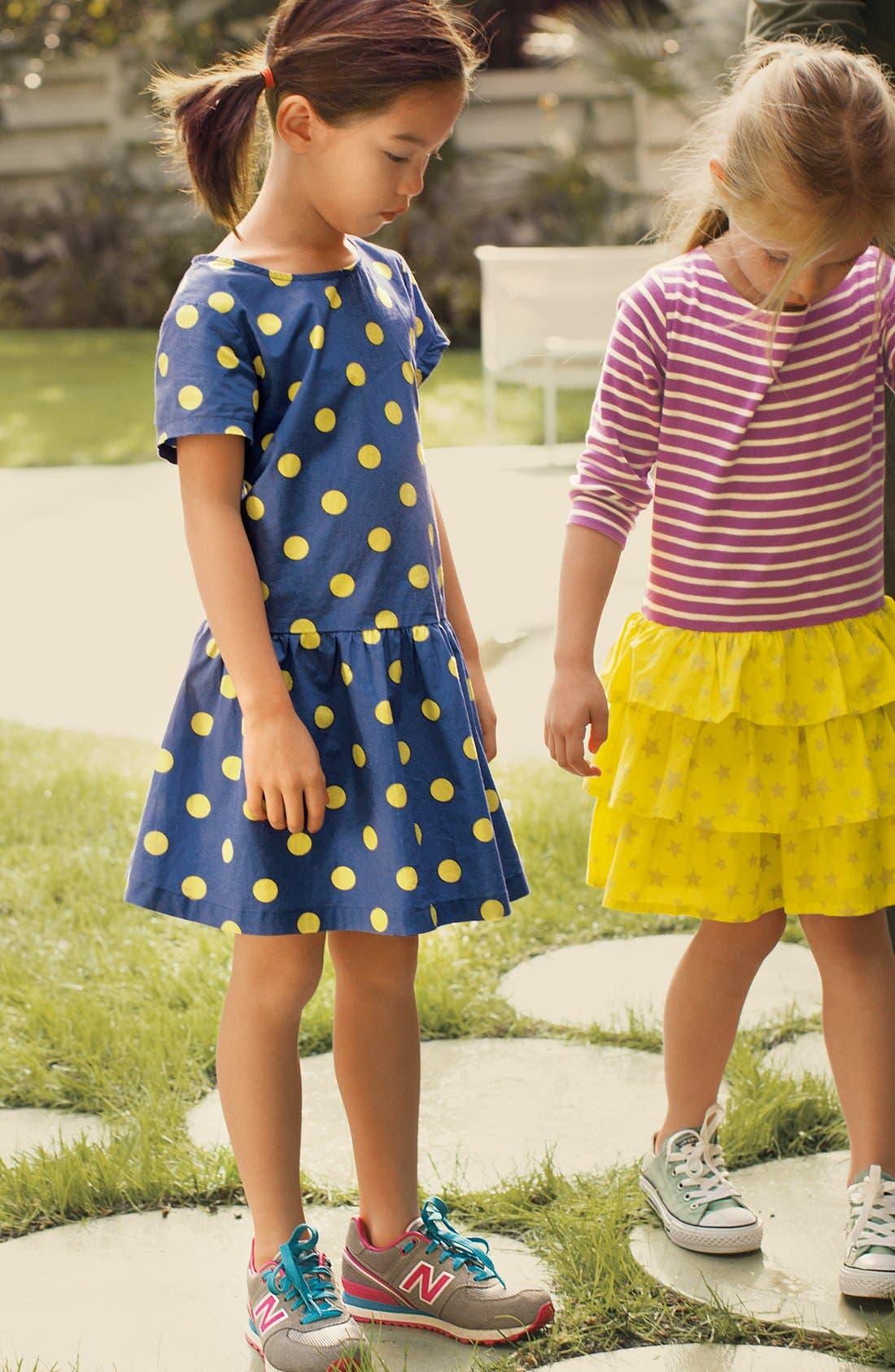 Alternate Image 2  - Mini Boden Stripy Ruffle Dress (Toddler Girls, Little Girls & Big Girls)(Online Only)