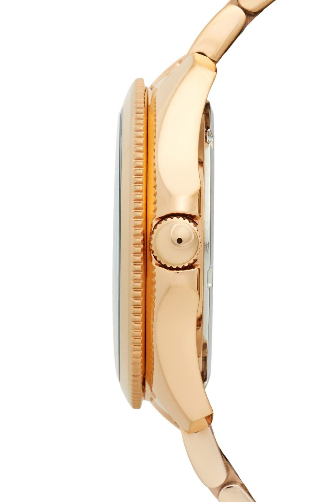 Alternate Image 3  - Fossil 'Cecile' Multifunction Bracelet Watch, 40mm