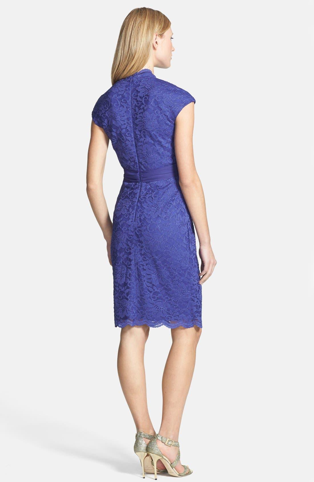 Alternate Image 2  - Alex Evenings Surplice Lace Dress