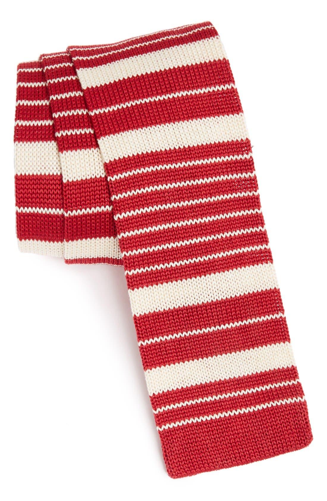 Main Image - IVY PREPSTER Stripe Knit Cotton Tie
