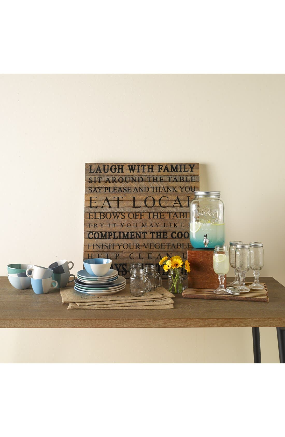 Alternate Image 3  - Second Nature By Hand 'Sit Around the Table' Repurposed Wood Wall Art