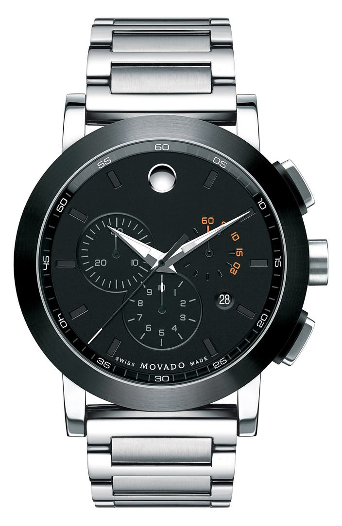Movado 39 museum sport 39 chronograph bracelet watch 44mm regular retail price 1 nordstrom for Retail price watches