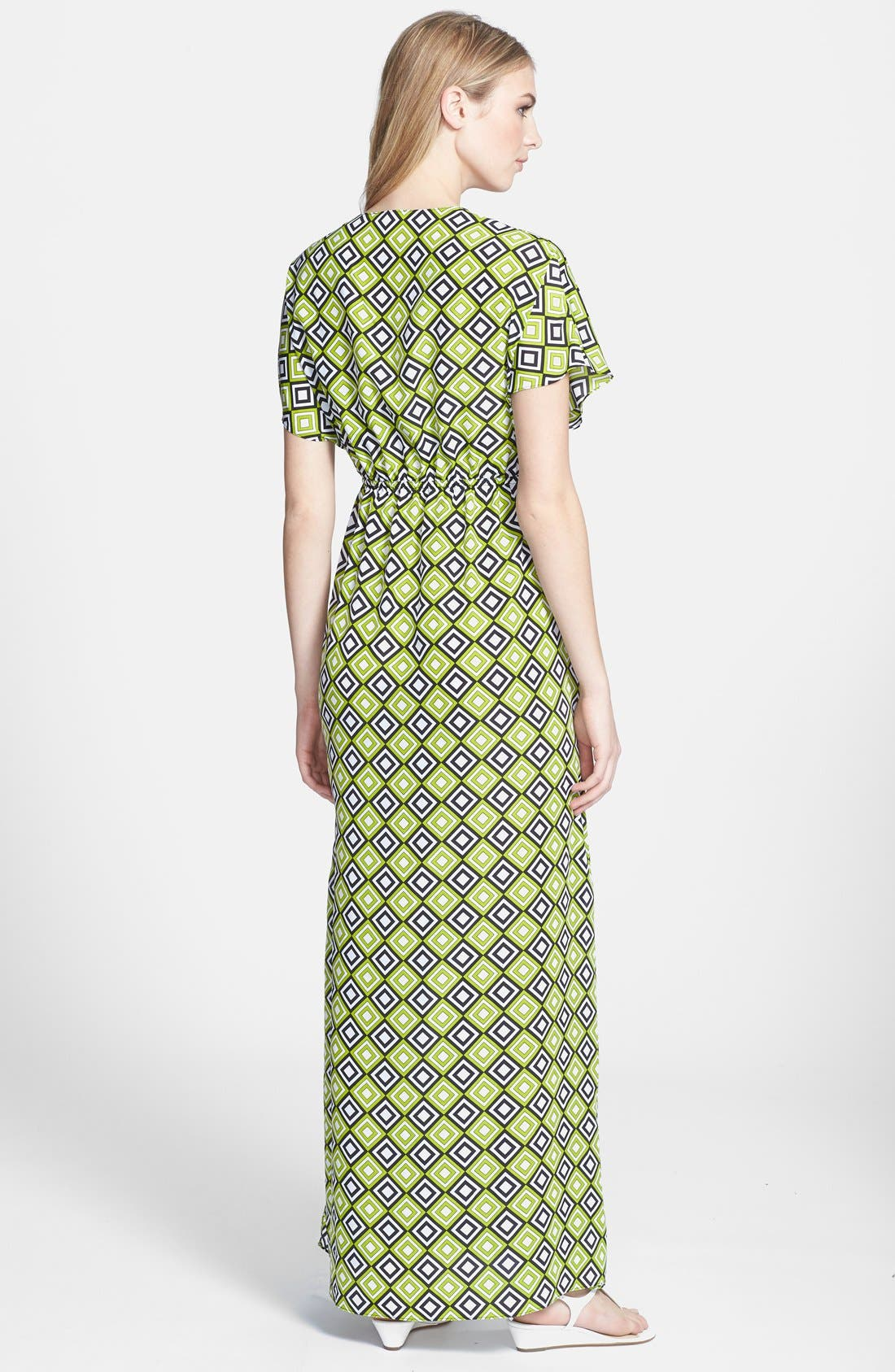 Alternate Image 2  - MICHAEL Michael Kors Retro Print Long Dress