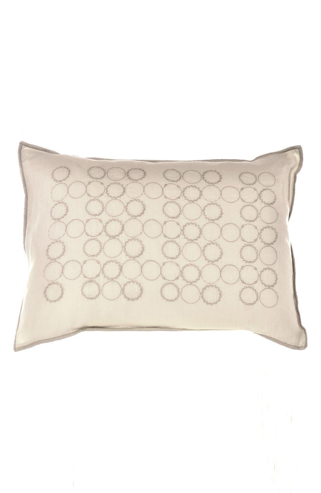 Alternate Image 1 Selected - Vera Wang Circle Embroidered Pillow