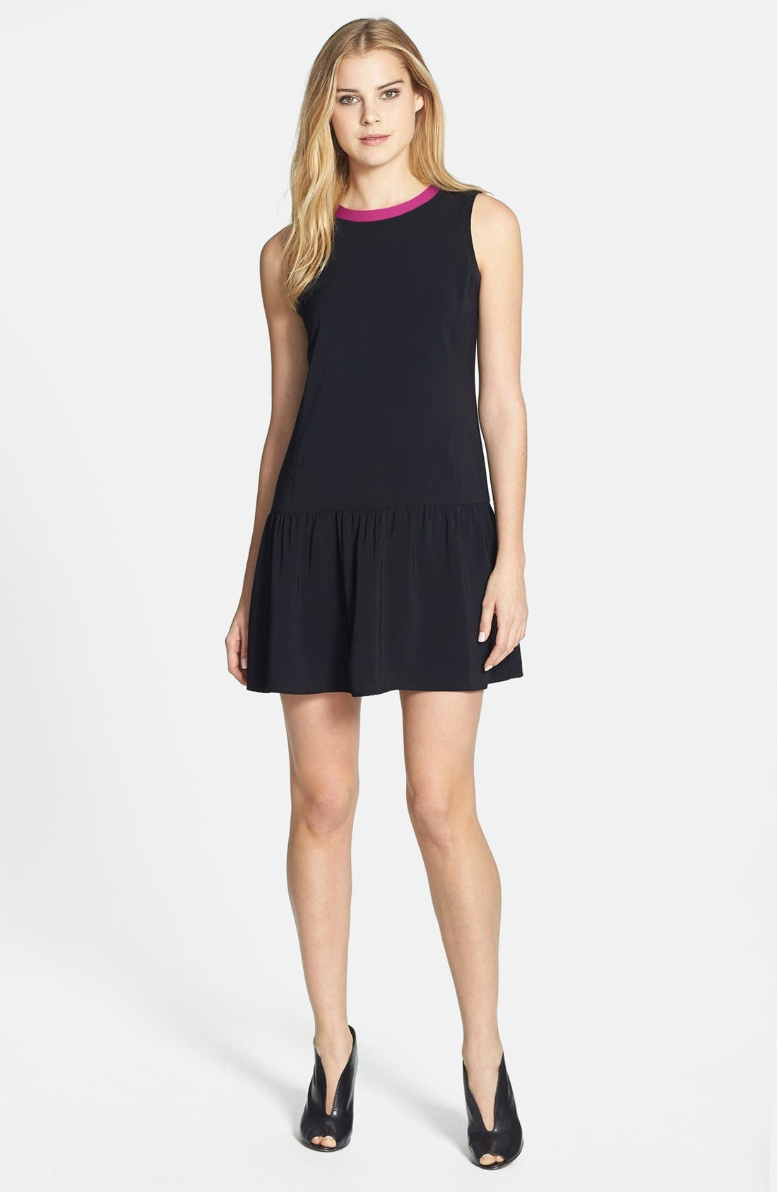 Alternate Image 1 Selected - Halogen® Sleeveless Drop Waist Dress