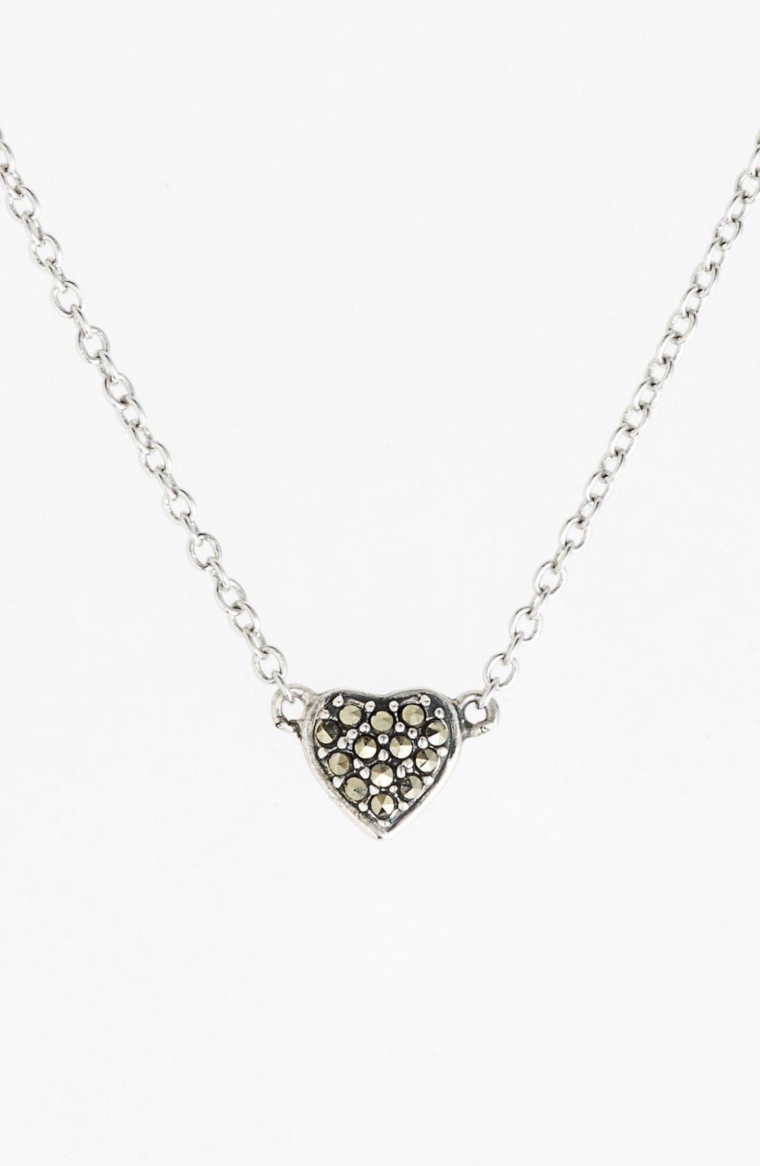 Main Image - Judith Jack 'Mini Motives' Reversible Heart Pendant Necklace