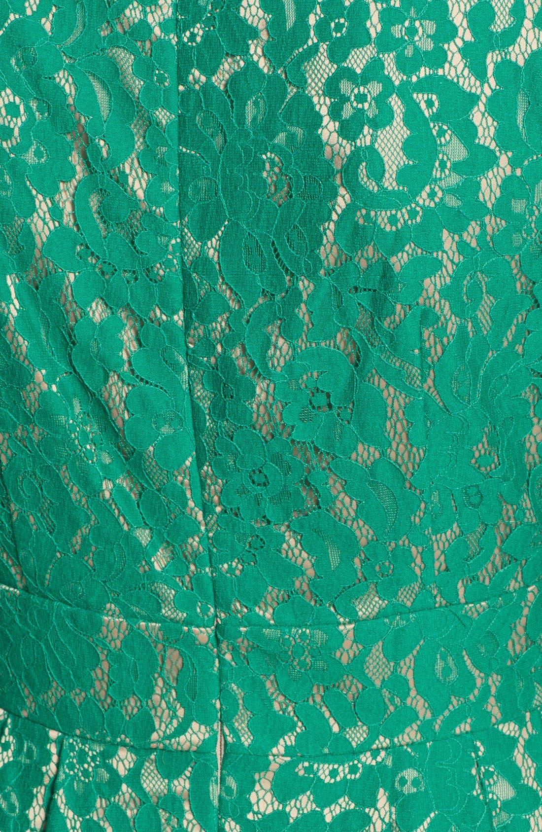 Alternate Image 4  - Eliza J Short Sleeve Lace Fit & Flare Dress