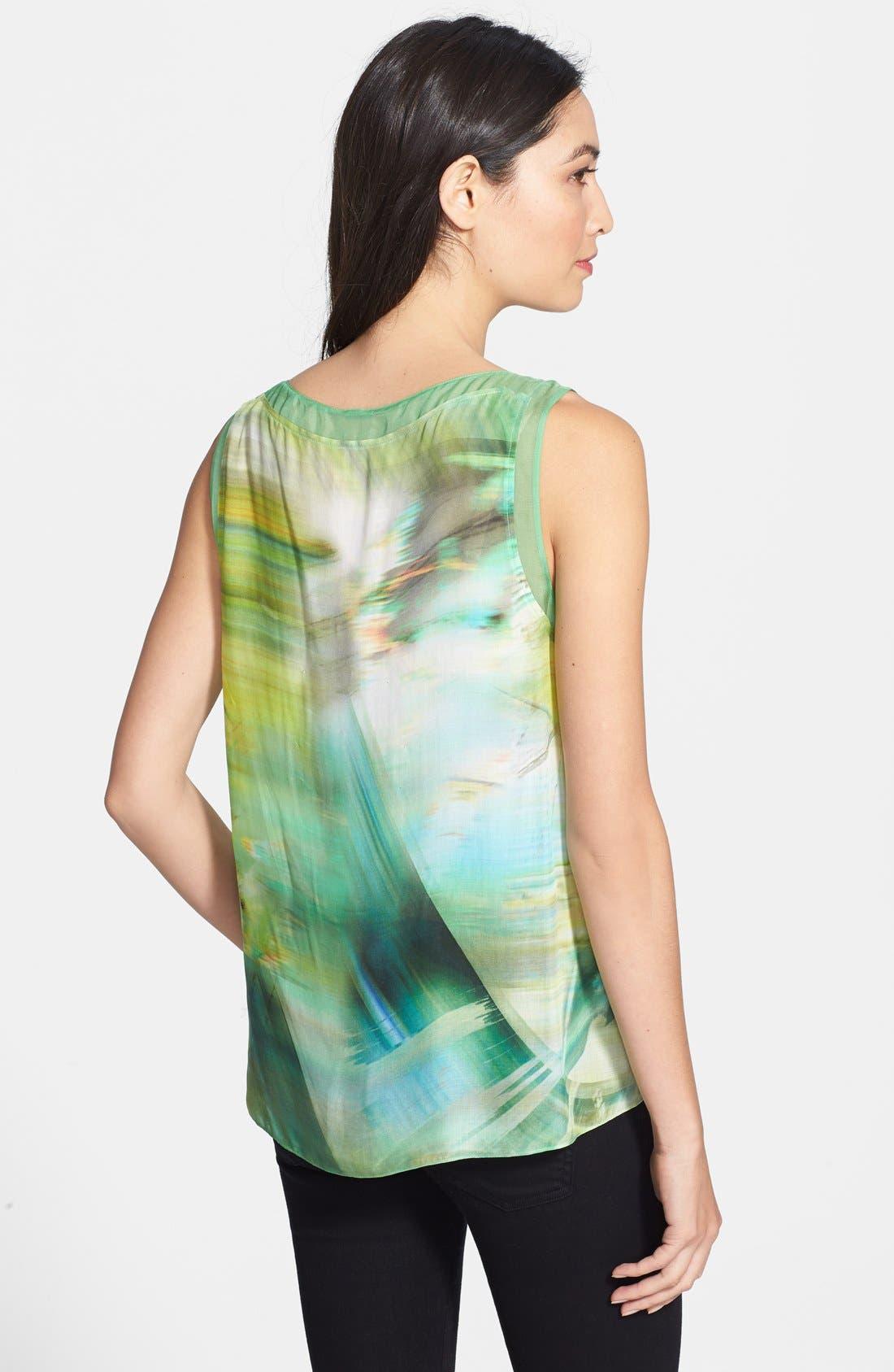 Alternate Image 2  - Elie Tahari 'Lori' Print Sleeveless Blouse