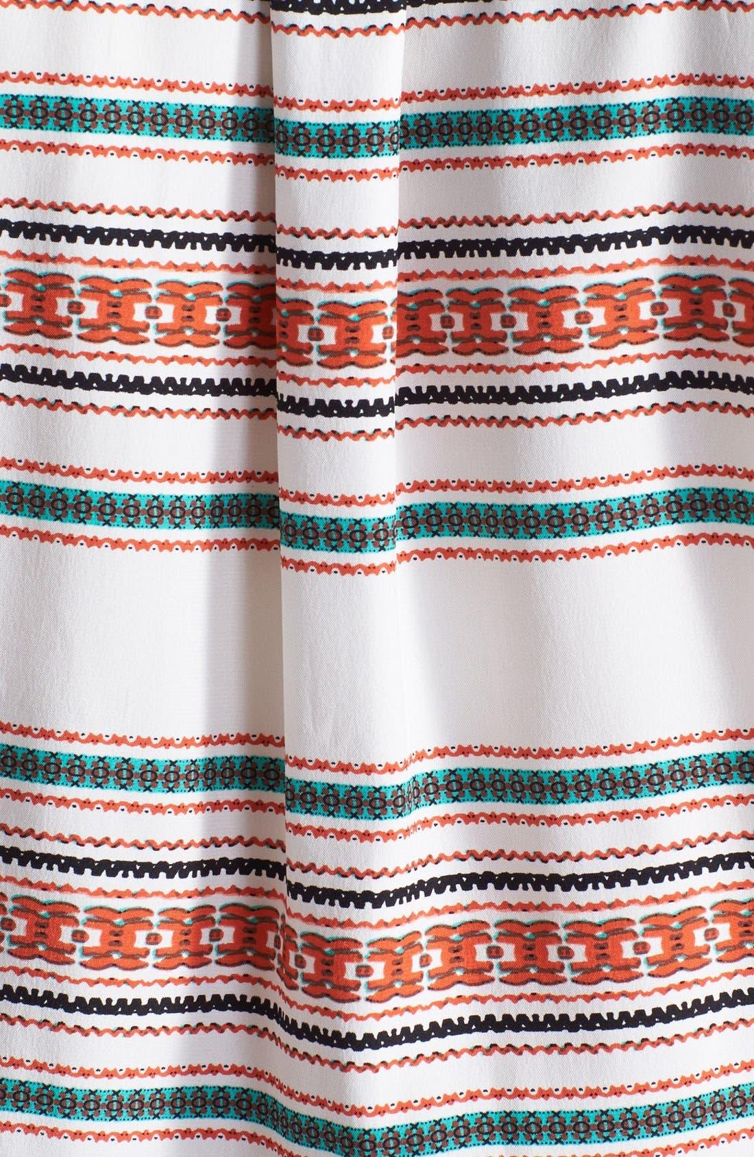 Alternate Image 3  - Parker 'Mallory' Split Neck Silk Dress