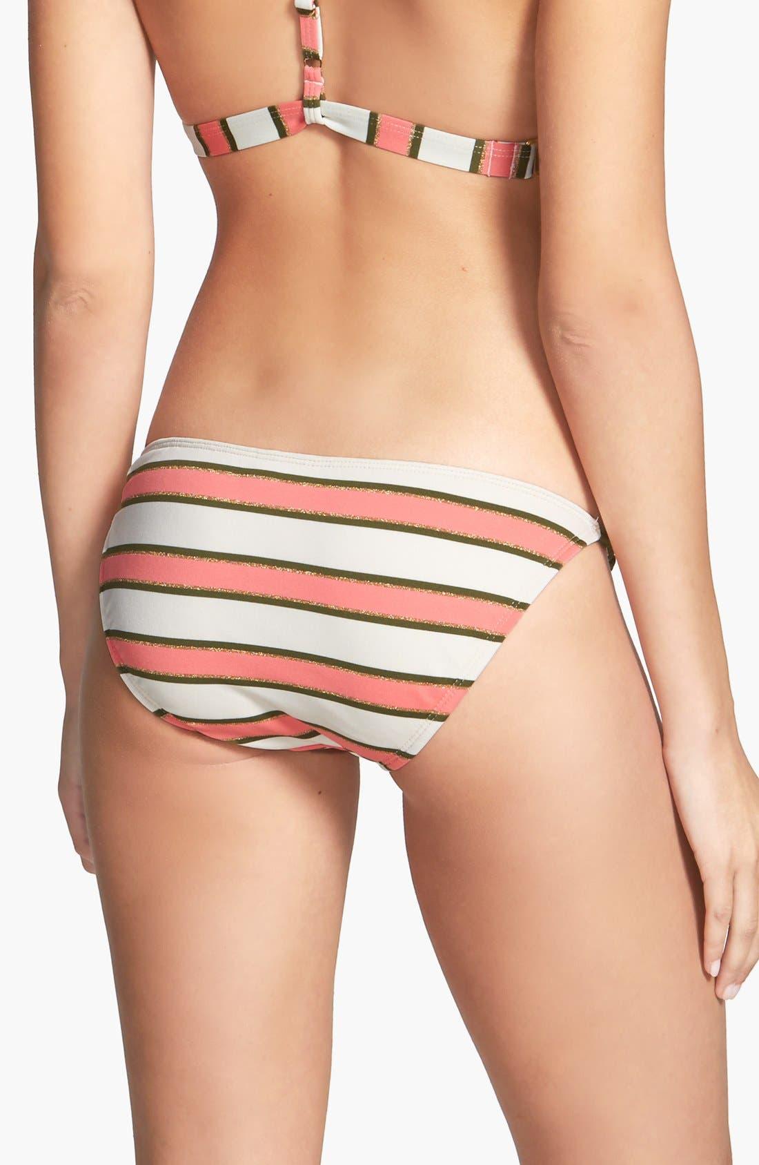 Alternate Image 2  - Sperry 'Earn Your Stripes' String Side Metallic Bikini Bottoms