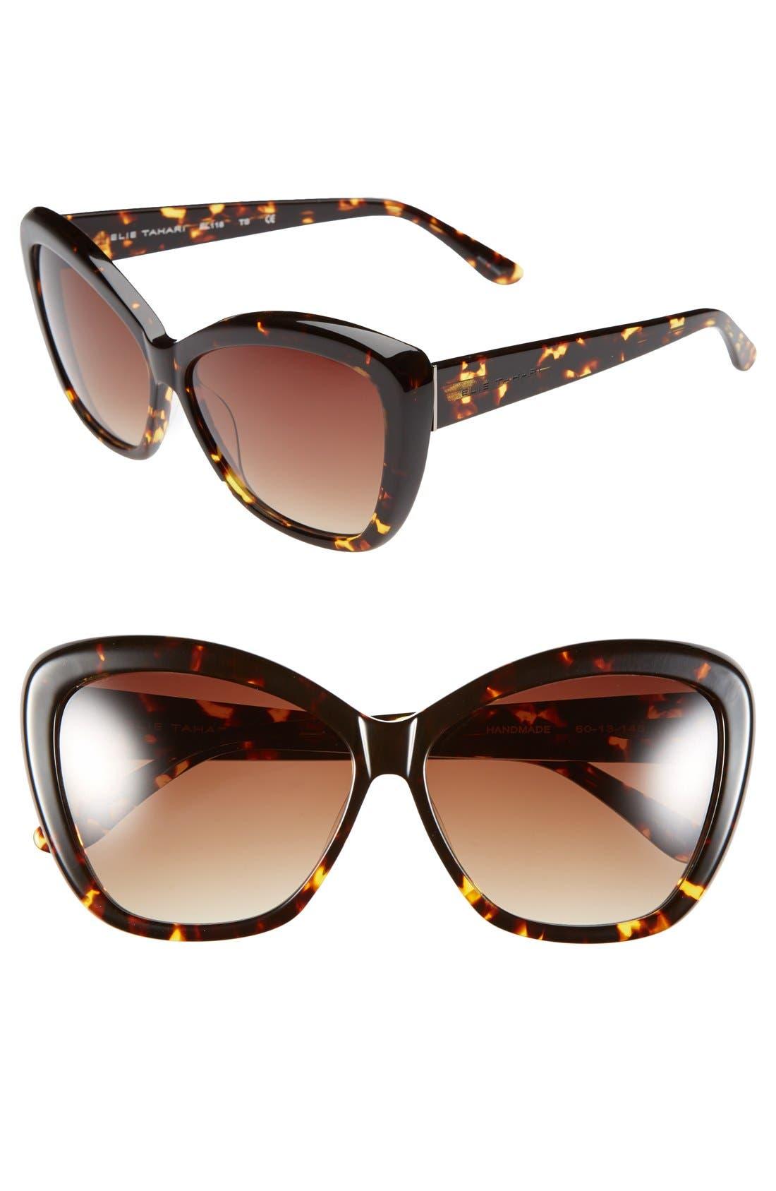Alternate Image 1 Selected - Elie Tahari 60mm Cat Eye Sunglasses