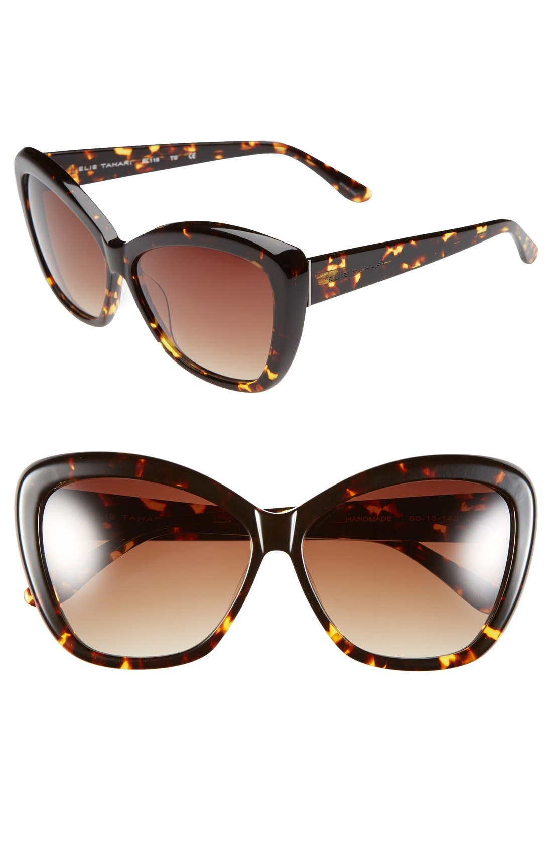 Main Image - Elie Tahari 60mm Cat Eye Sunglasses