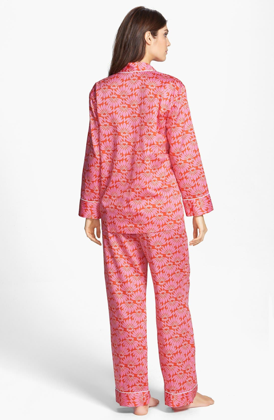 Alternate Image 2  - Natori 'Fleur' Cotton Sateen Pajamas