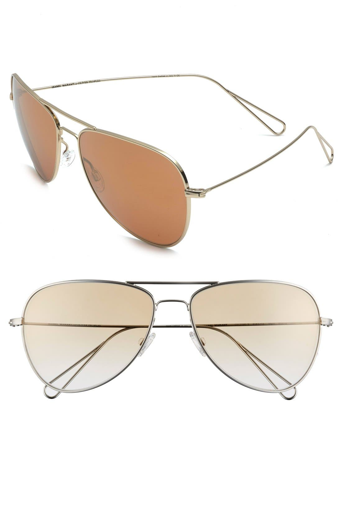 Main Image - Isabel Marant par Oliver Peoples 'Matt' 60mm Aviator Sunglasses
