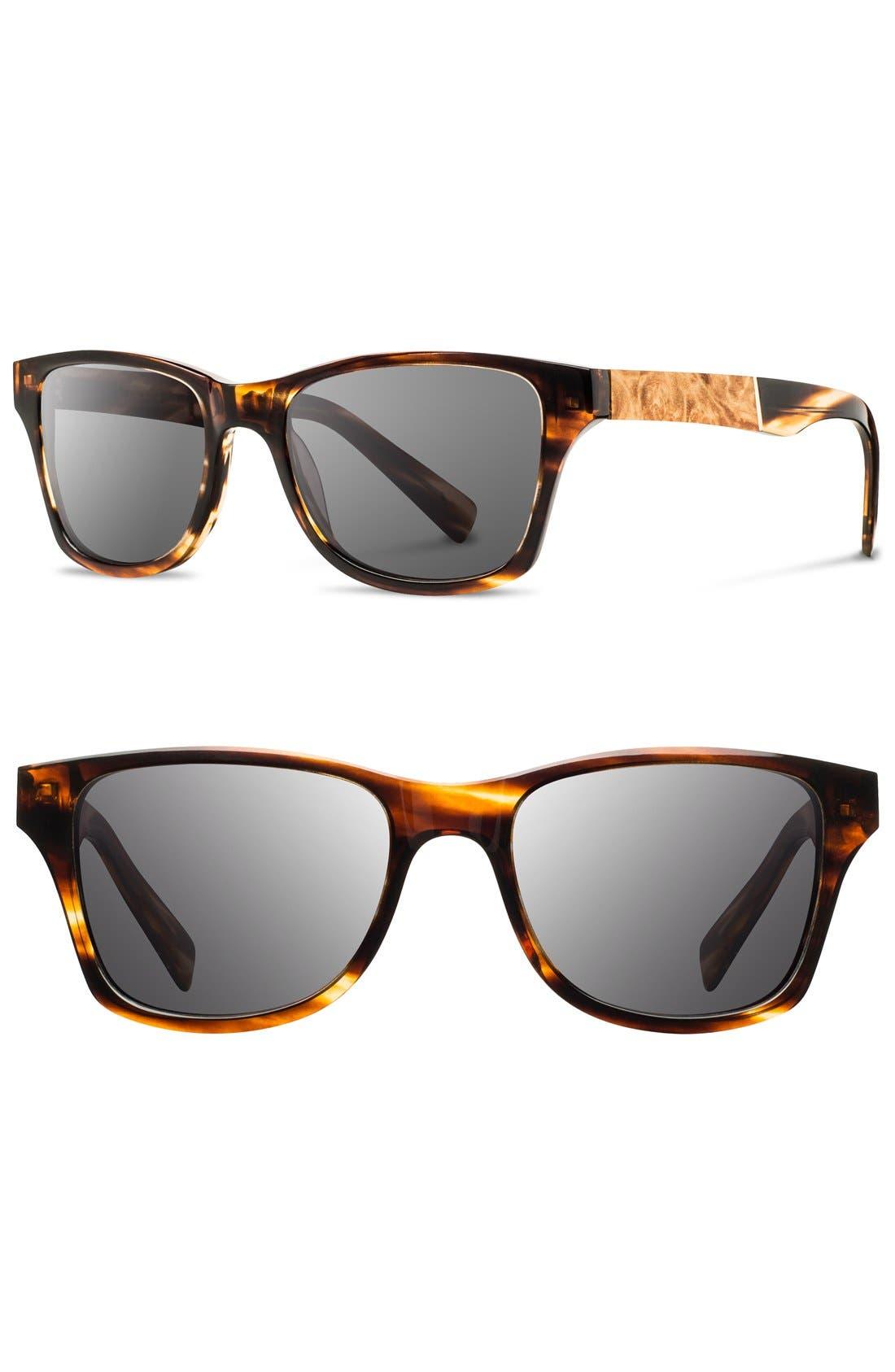 Shwood 'Canby' 53mm Polarized Wood Sunglasses