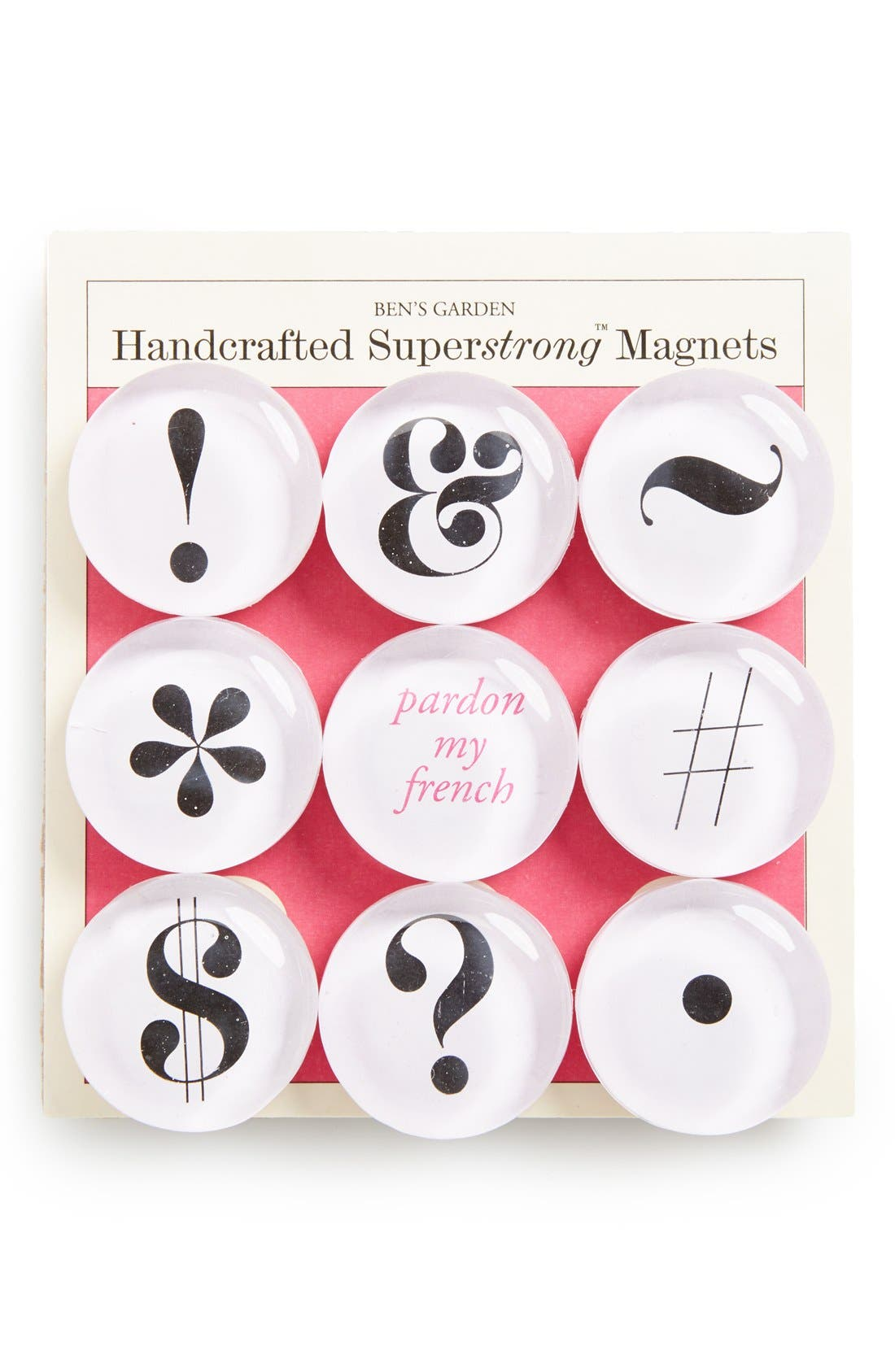 Alternate Image 1 Selected - Ben's Garden 'Pardon My French' Superstrong™ Magnets (Set of  9)