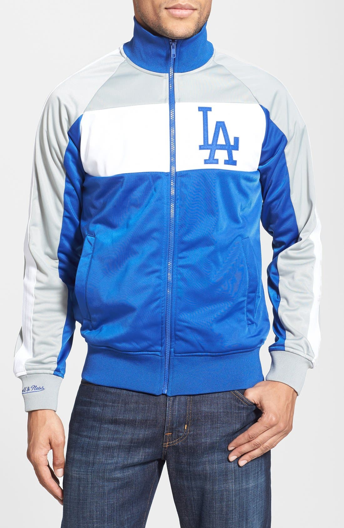 Main Image - Mitchell & Ness 'Los Angeles Dodgers - Home Stand' Tailored Fit Track Jacket