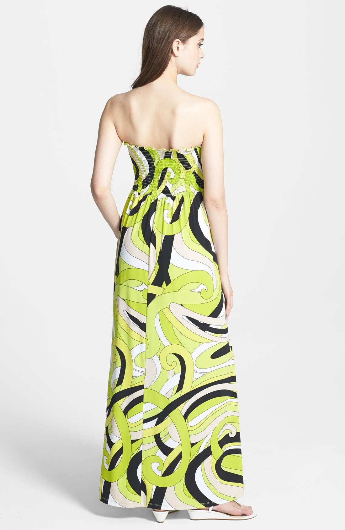 Alternate Image 2  - MICHAEL Michael Kors Print Strapless Maxi Dress