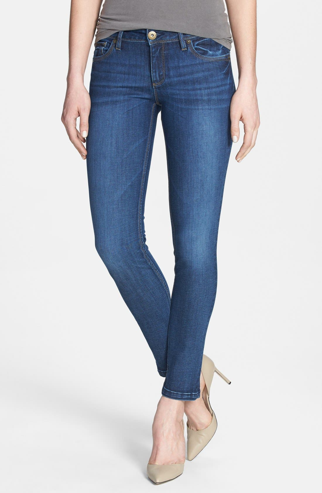 Alternate Image 1 Selected - DL1961 'Angel' Ankle Cigarette Jeans (Wall)