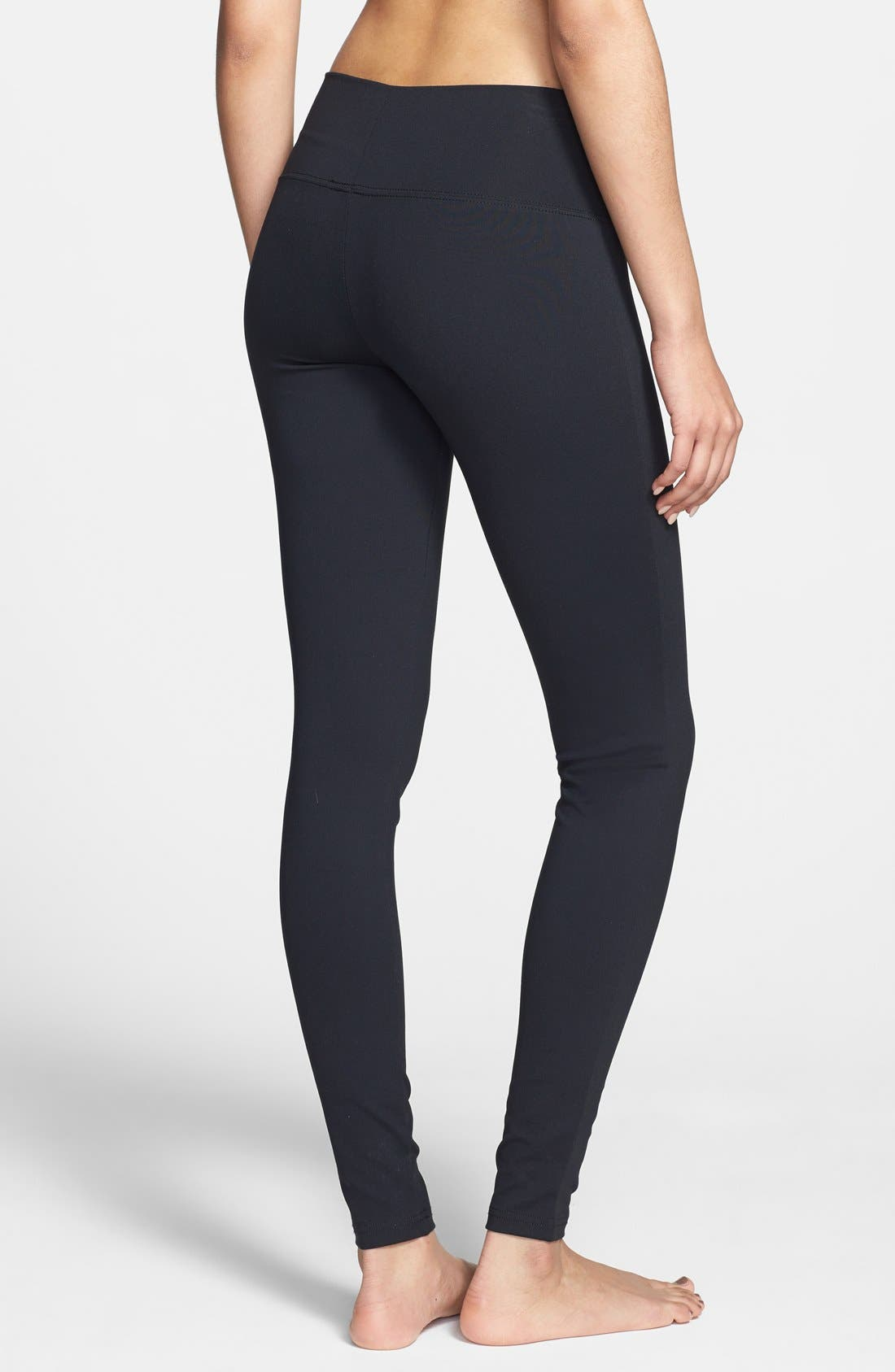 Alternate Image 2  - BP. Wide Waistband Essential Leggings (Juniors)