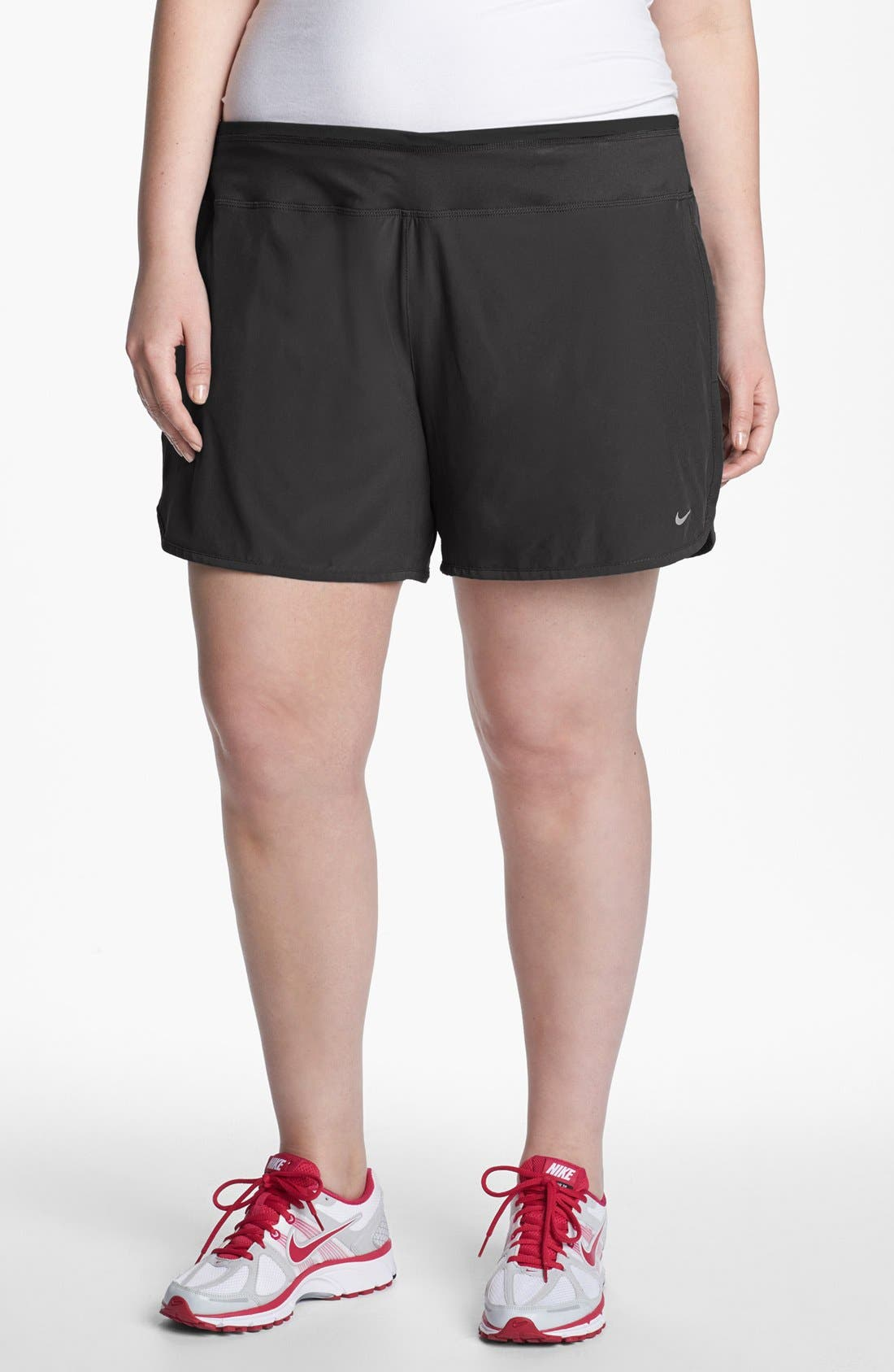 Alternate Image 1 Selected - Nike Dri-FIT Shorts (Plus Size)