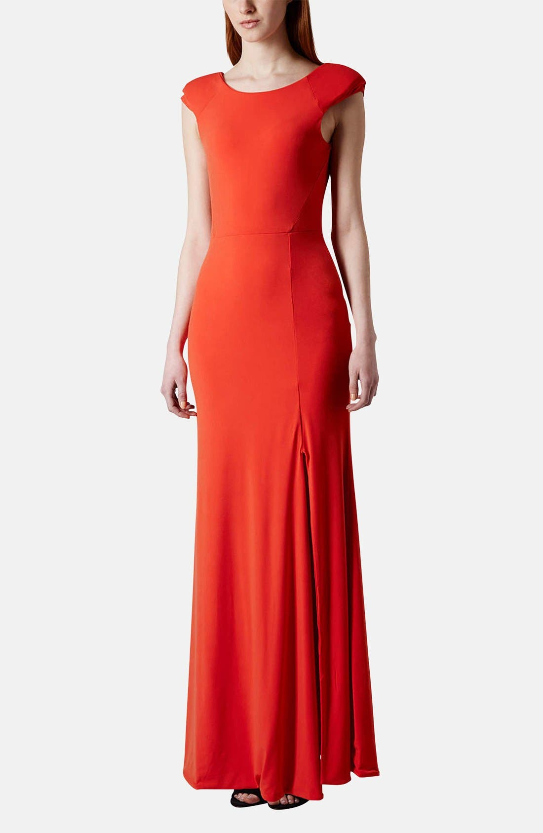 Main Image - Topshop Scoop Back Jersey Maxi Dress