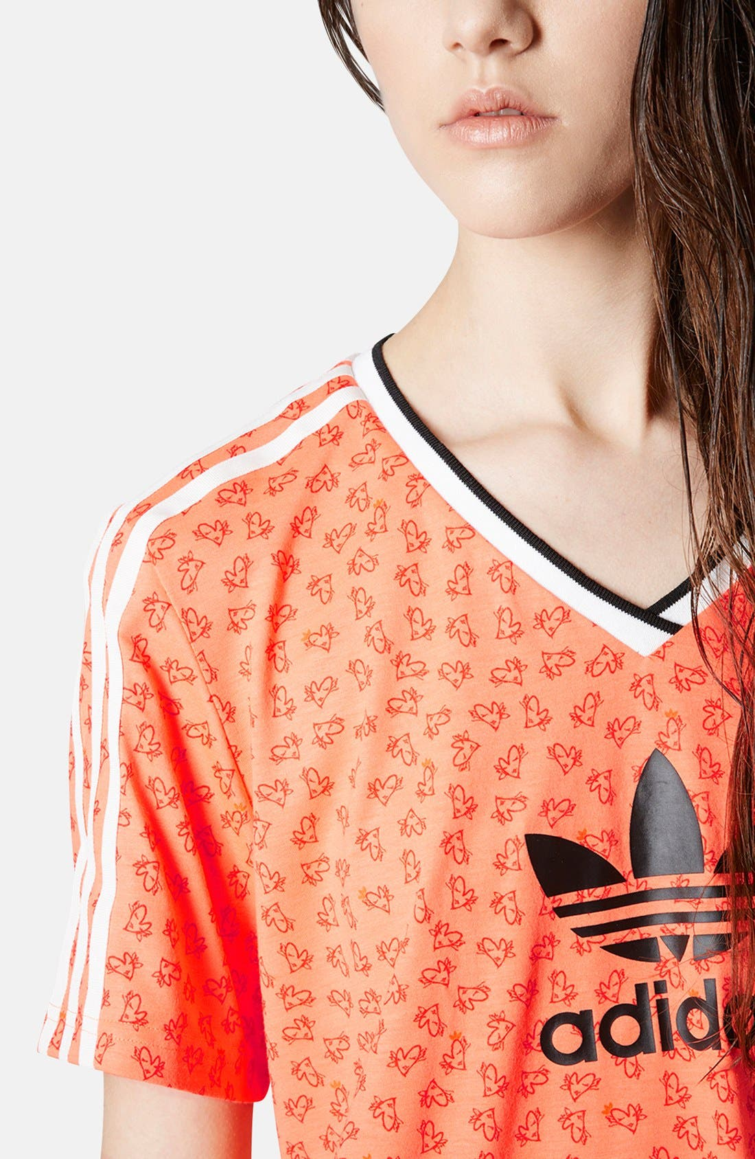Alternate Image 4  - Topshop x adidas Originals Football Tee